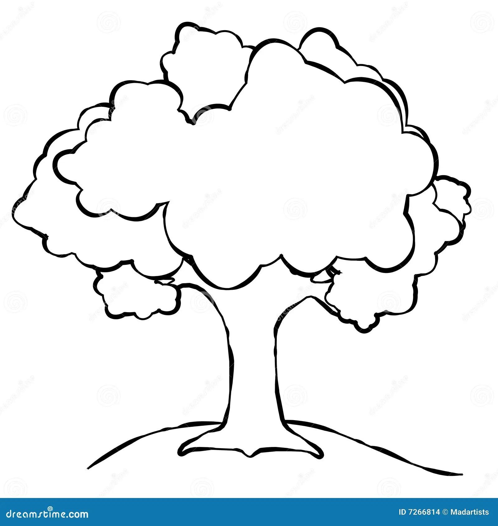 Einfache Baum Zeile Kunst Stock Abbildung Illustration
