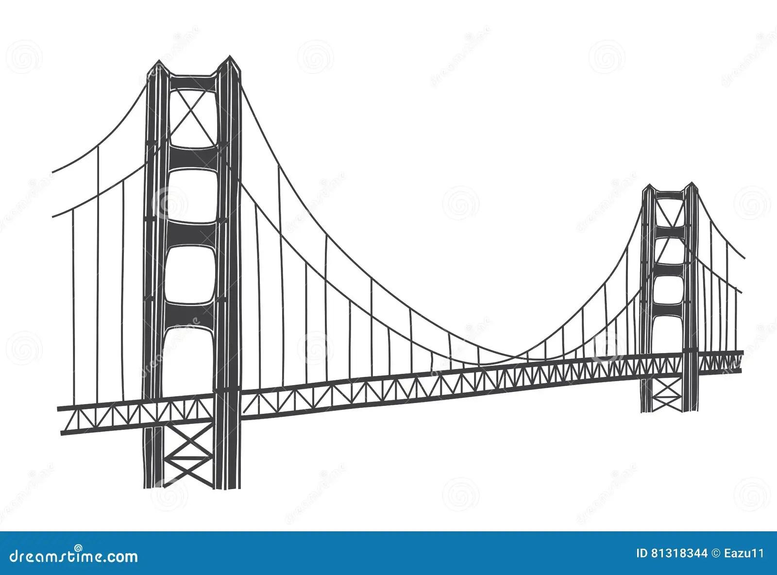 Ejemplo De Puente Golden Gate San Francisco Stock De