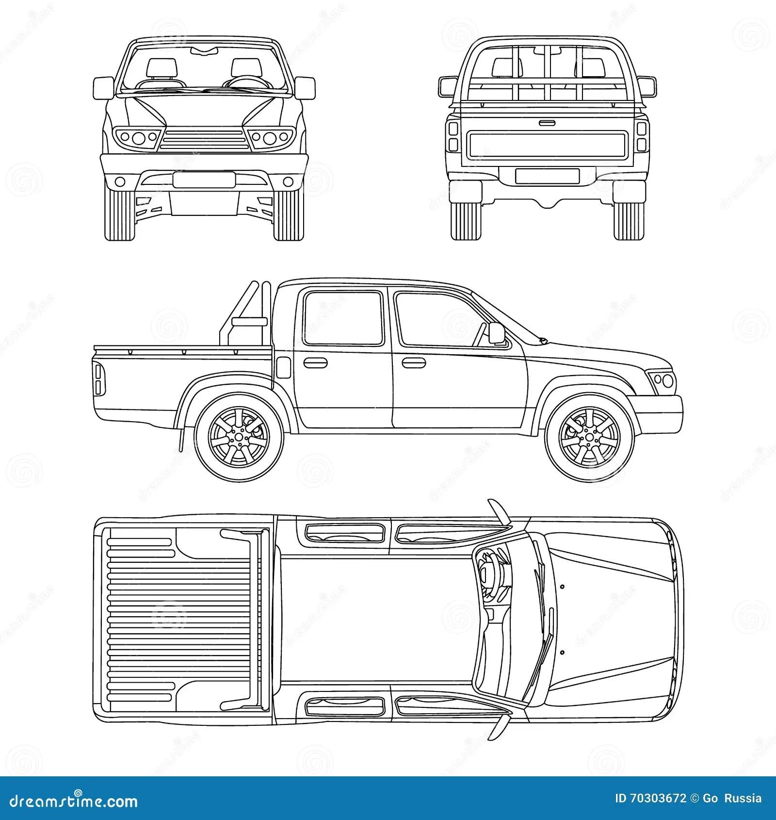 Ejemplo Del Vector De La Camioneta Pickup Del Coche
