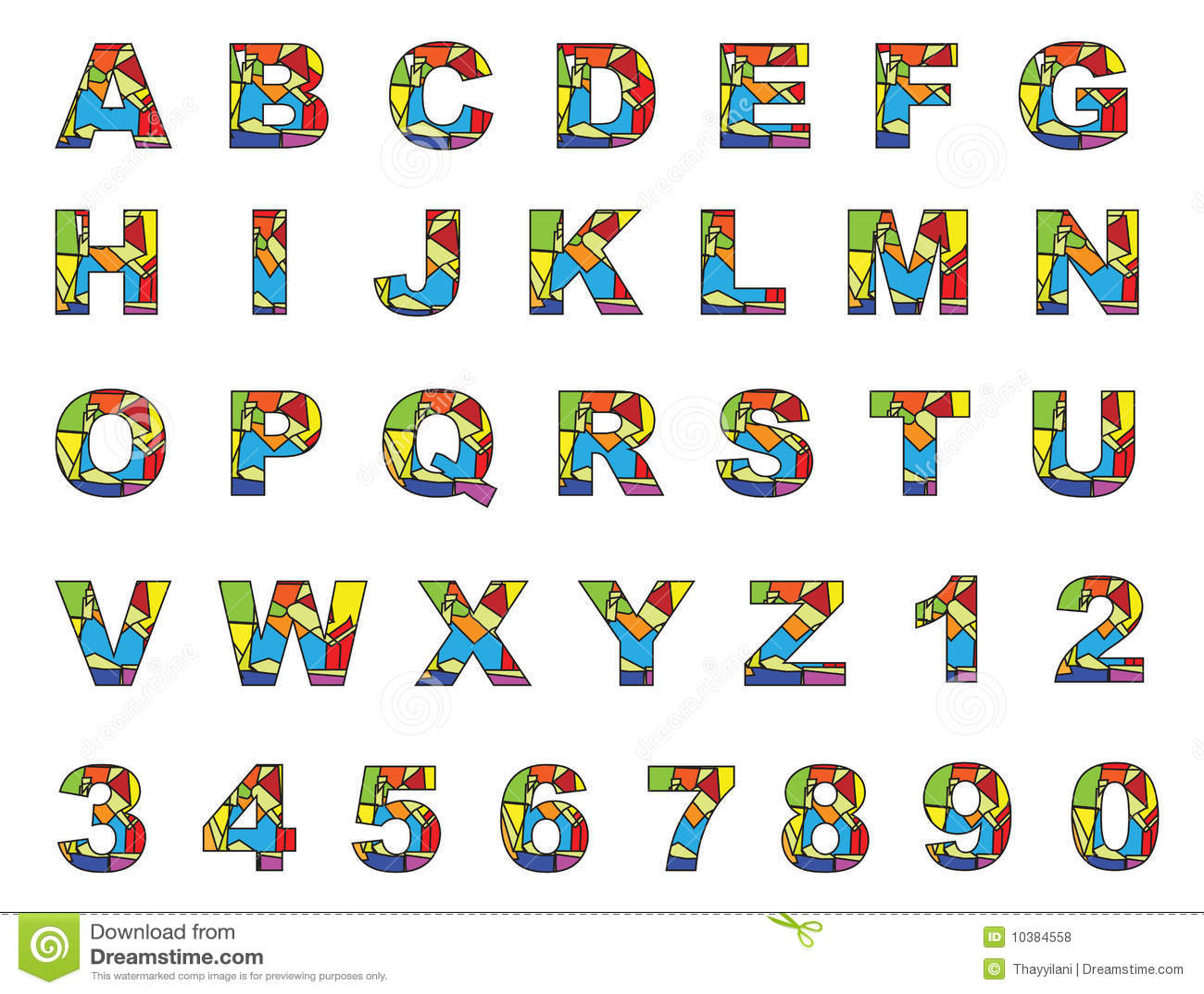 El Ingles Colorido Letra A A Z Ilustracion Del Vector
