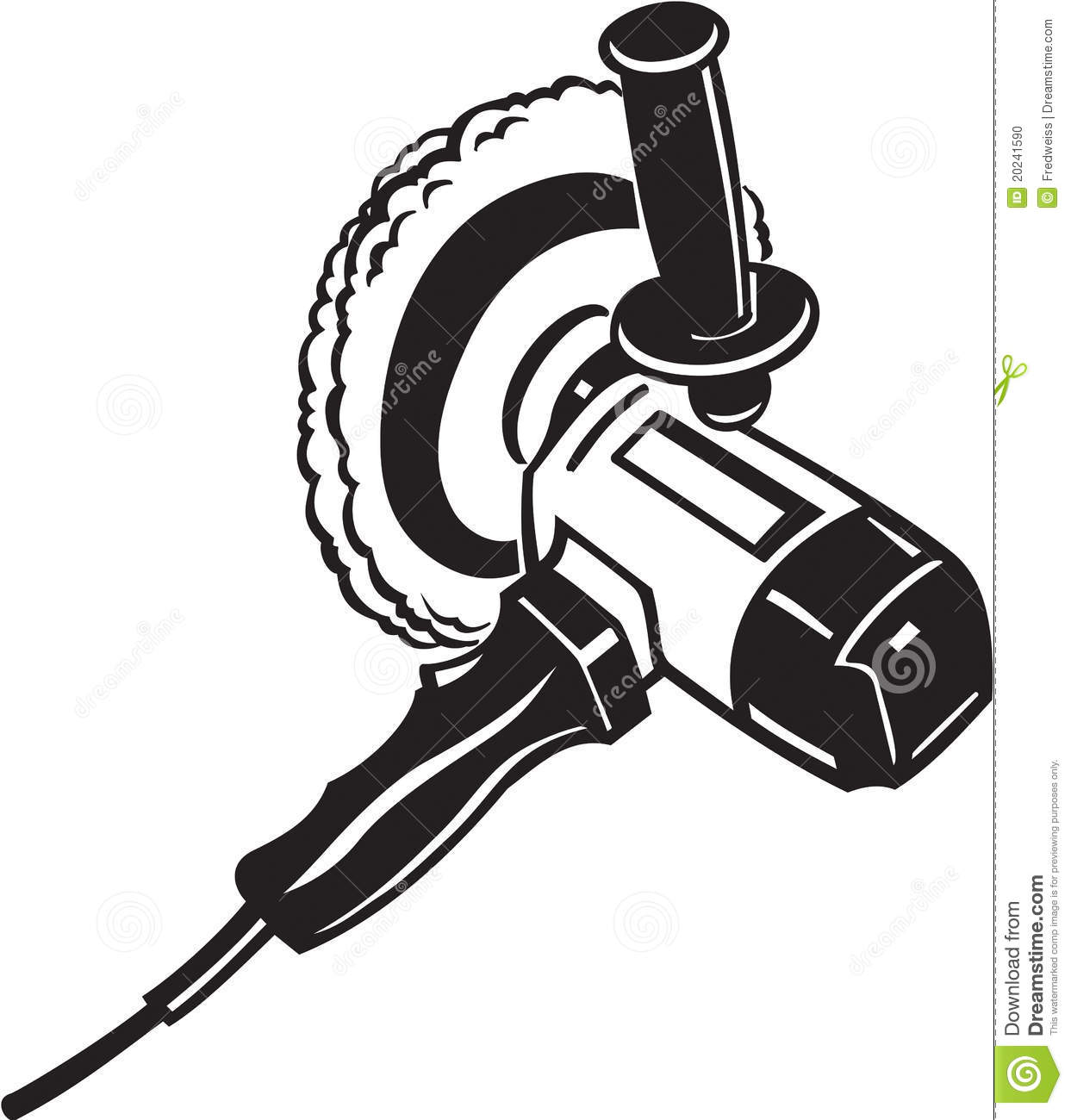 Electric Buffer Tool Stock Vector Illustration Of