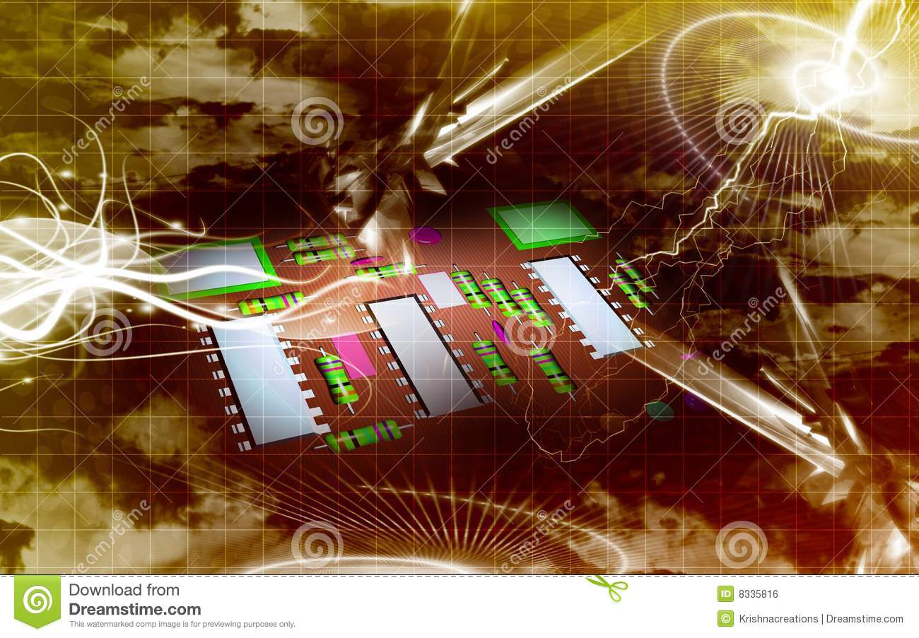 Electric Circuit Board Royalty Free Stock Image