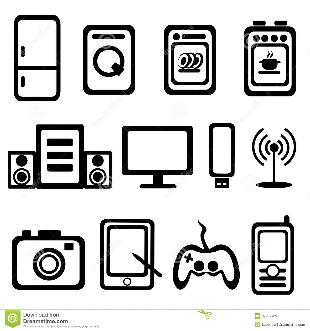 Electric Goods Icons Royalty Free Stock Images