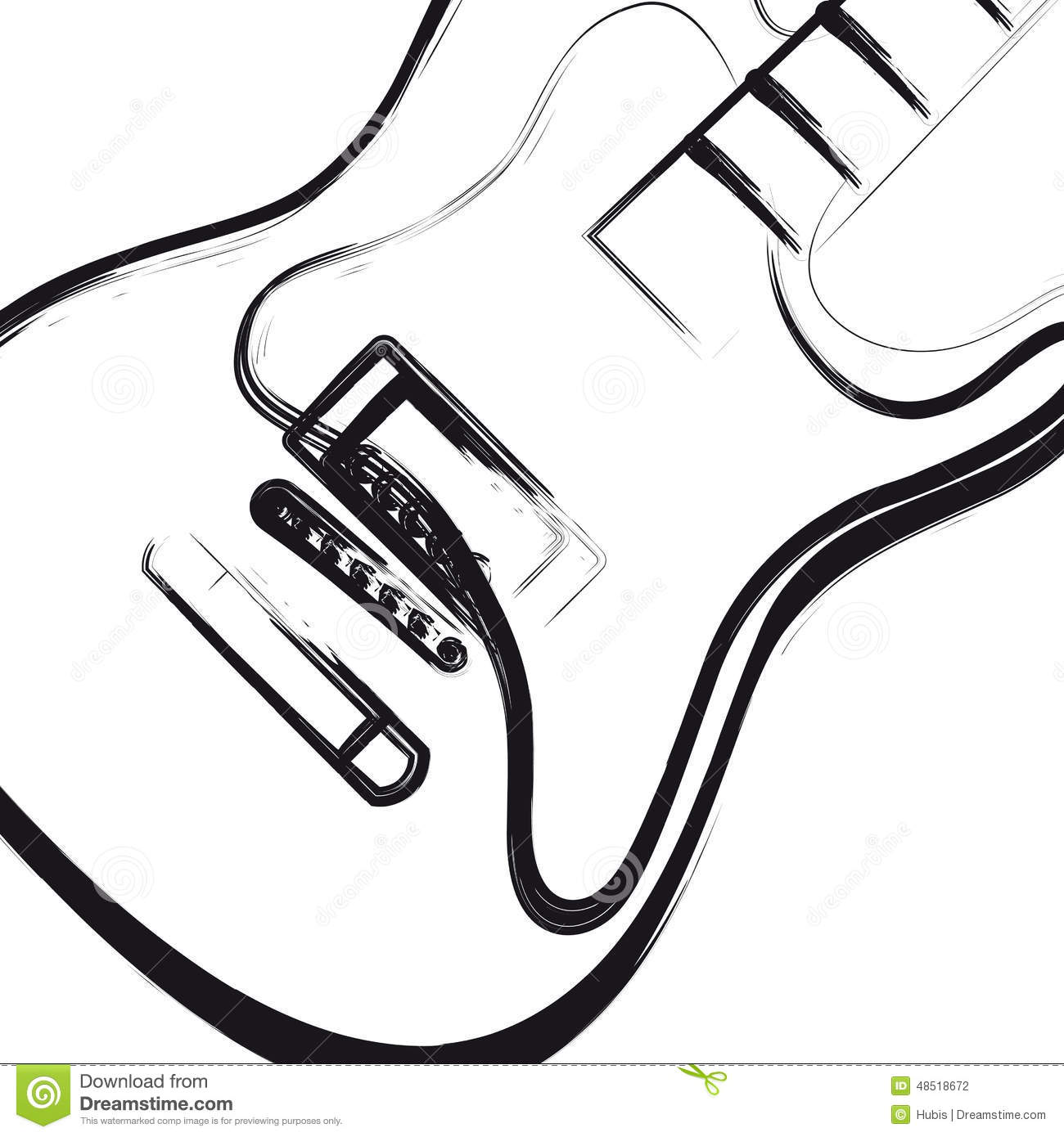 Electric Guitar Hand Drawn Stock Vector Image Of Blot