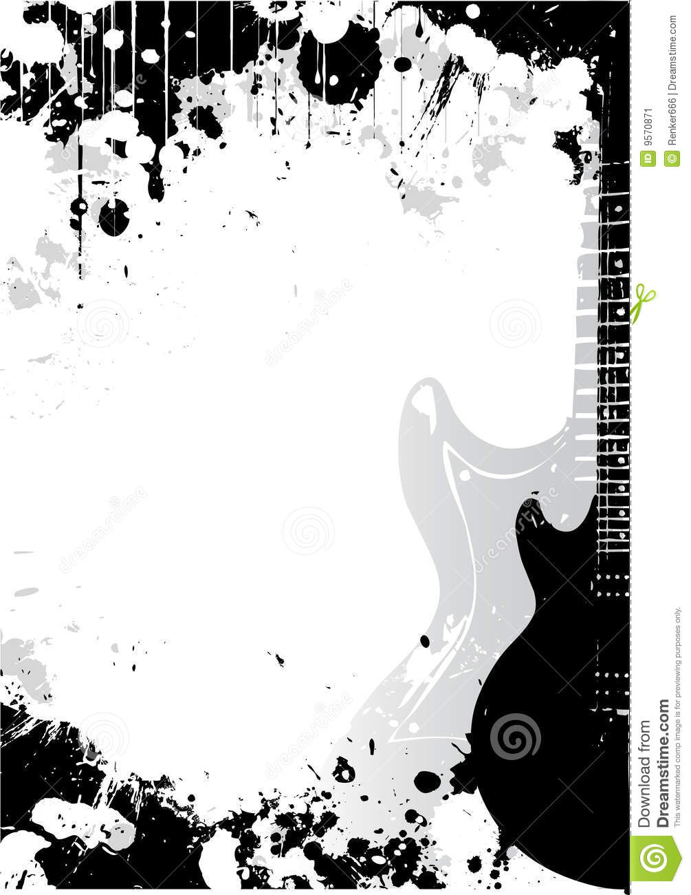 Electric Guitar Poster Background Stock Image Image 9570871