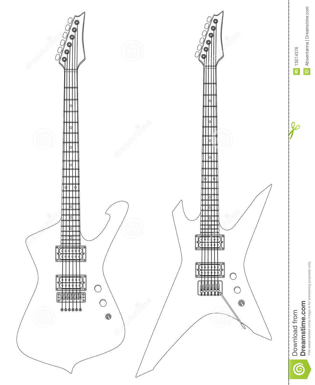Electric Guitars Stock Vector Illustration Of Musical