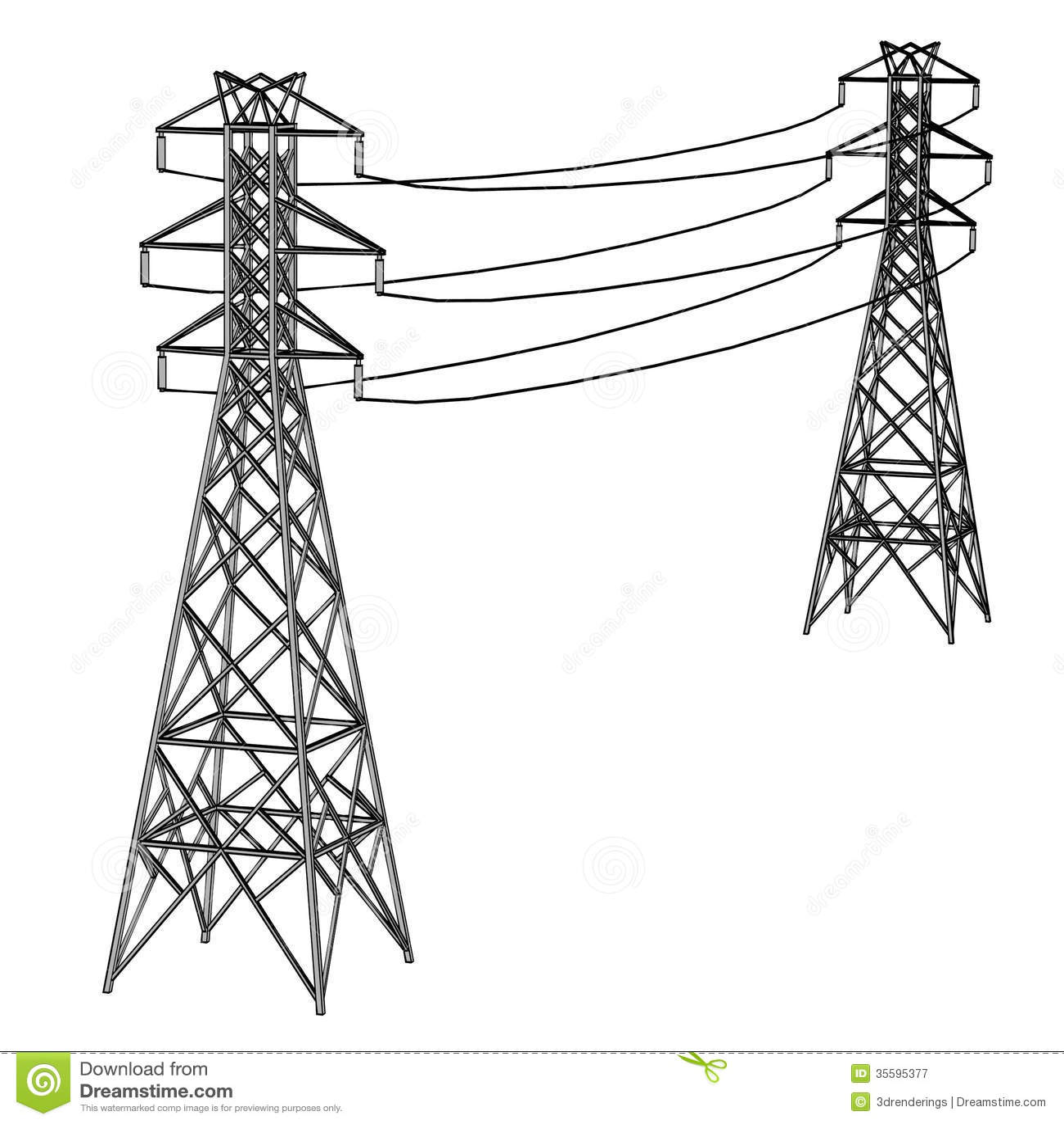 Electric Lines Stock Illustration Illustration Of Sketch