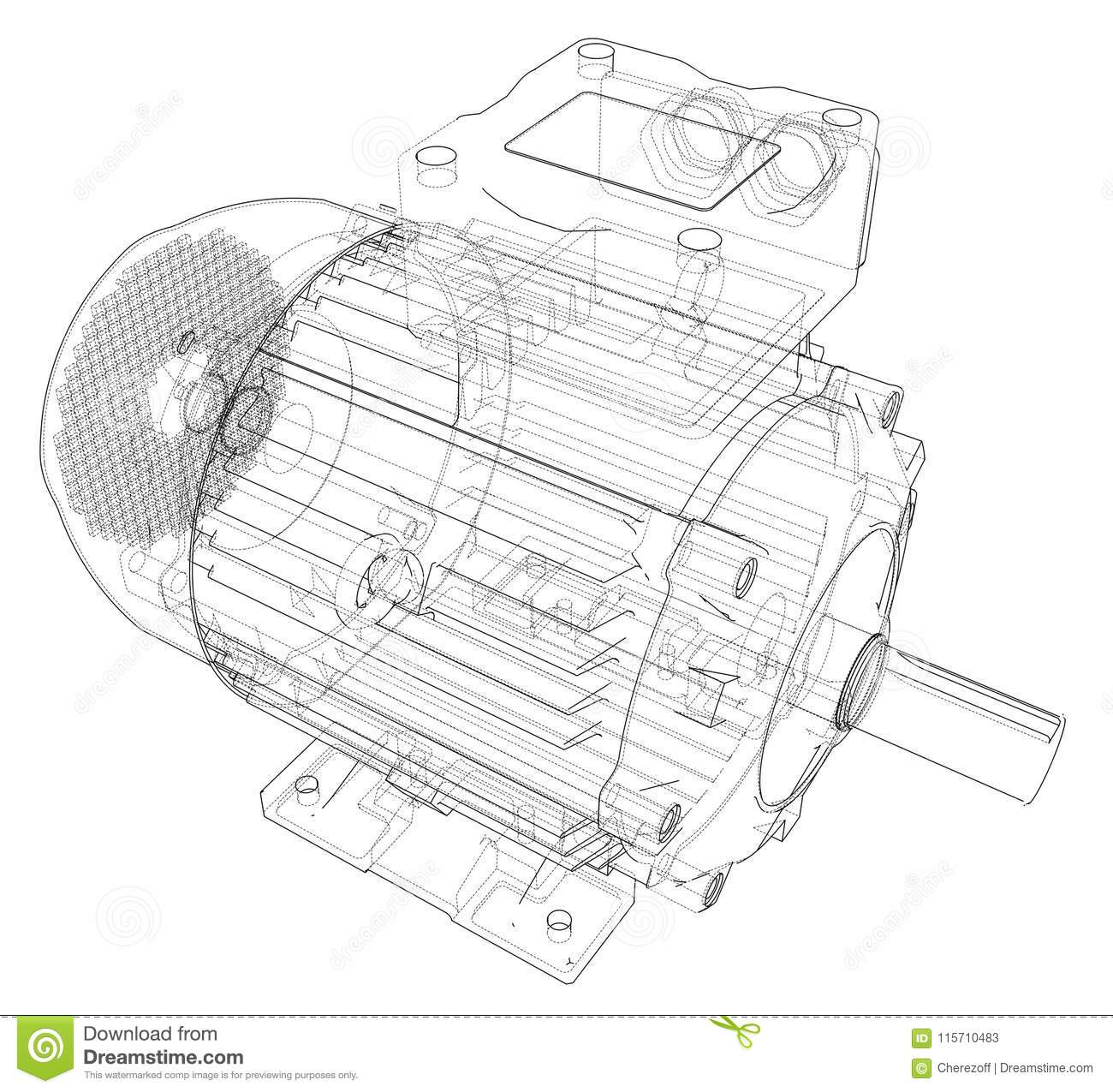 Electric Motor Stock Illustrations 9 899 Electric Motor