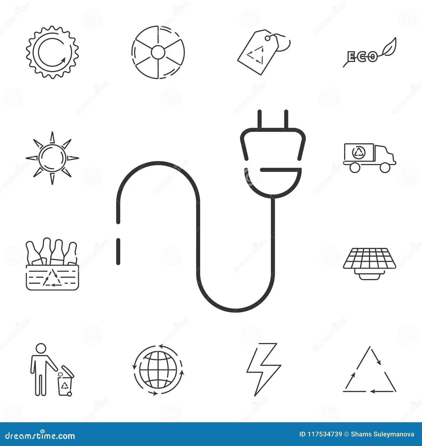 Electric Plug Icon Simple Element Illustration Electric