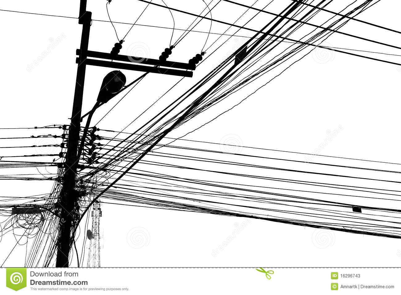 Electric Wire Stock Illustration Illustration Of