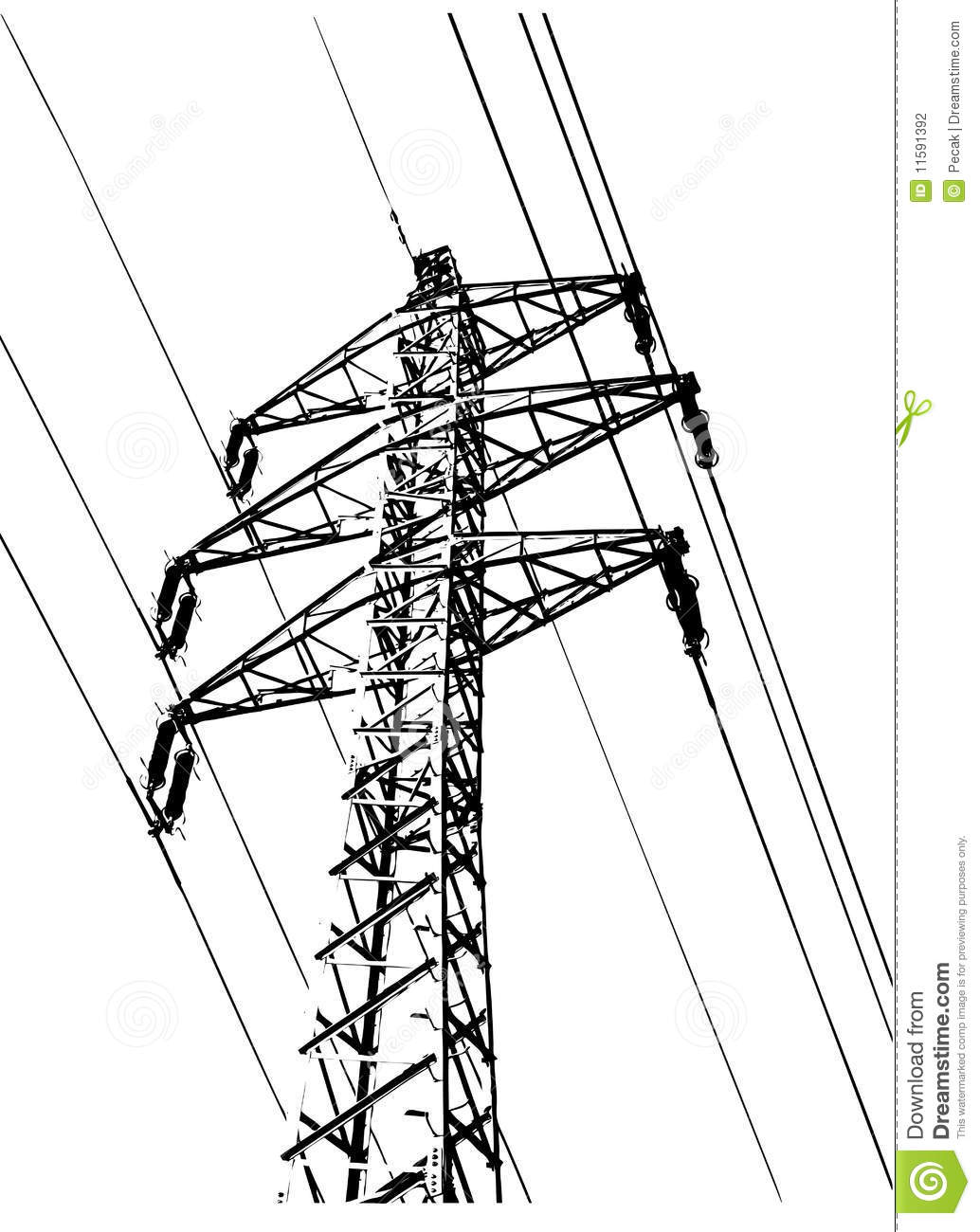 Electric Wiring Stock Photo Image Of Ribs Pylons