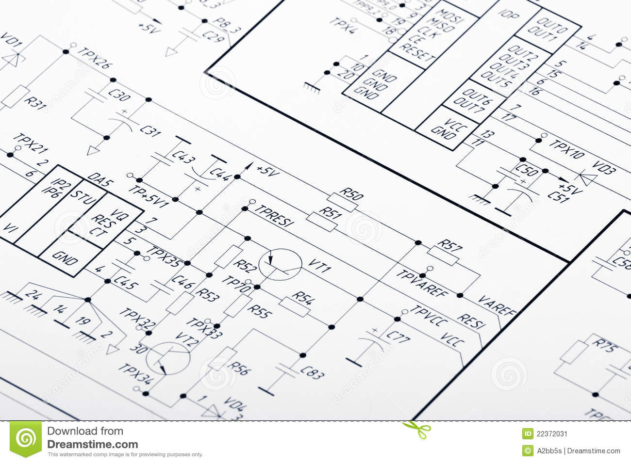 Electrical Circuits Stock Image Image Of Drafting Design