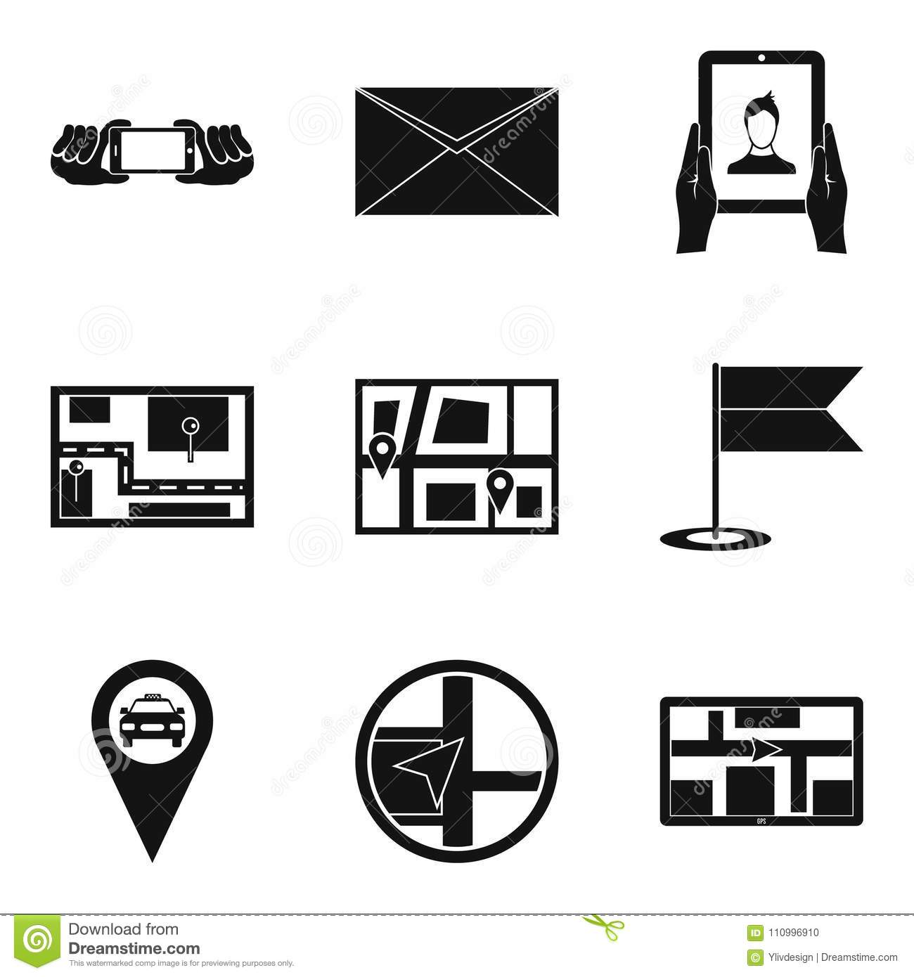 Electrical Connection Icons Set Simple Style Stock Vector