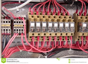 Electrical Wiring Control Panel Diagram Stock Photo  Image of electrical, energy: 31168876