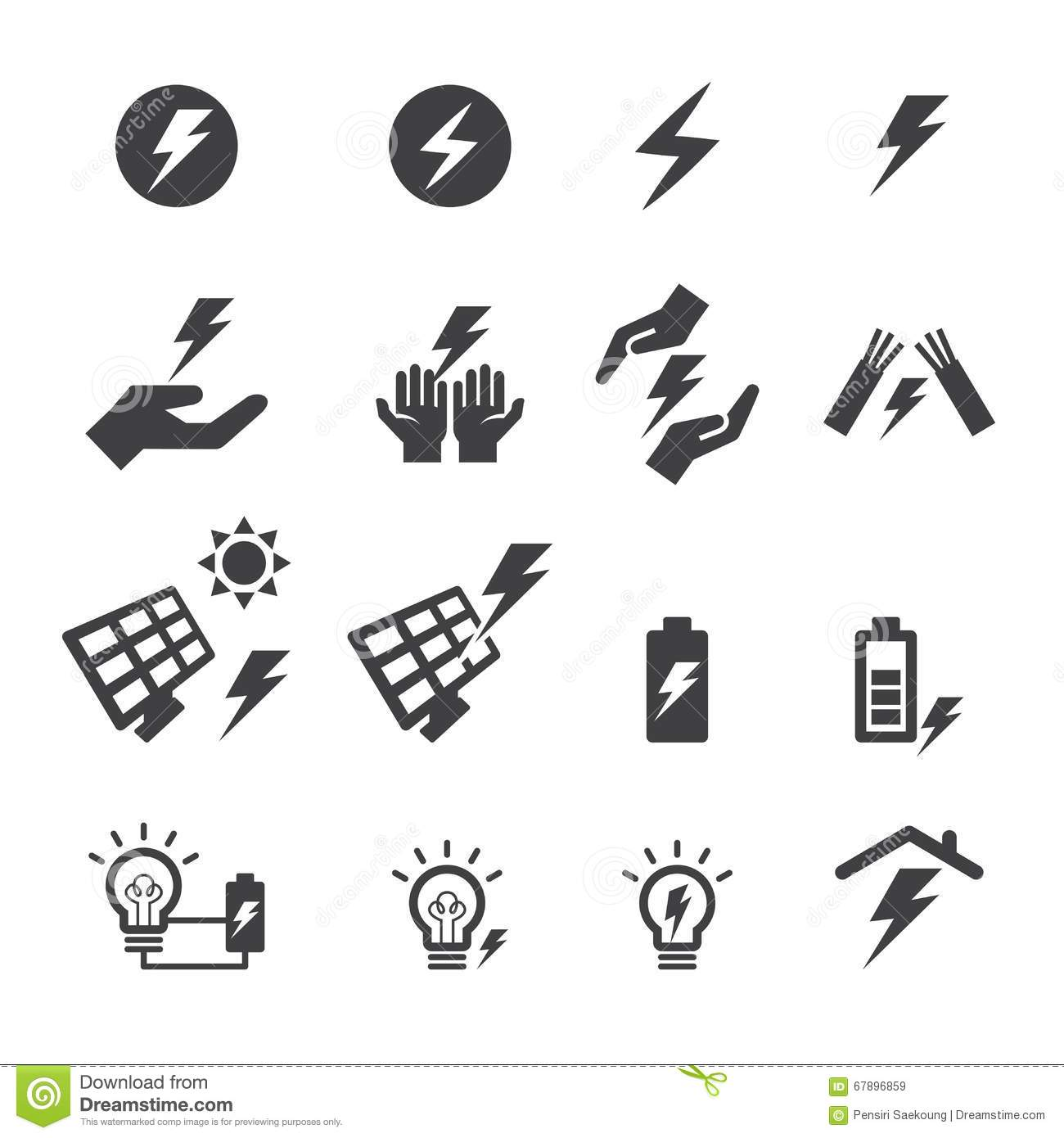 Electricity Icon Stock Vector Illustration Of Home