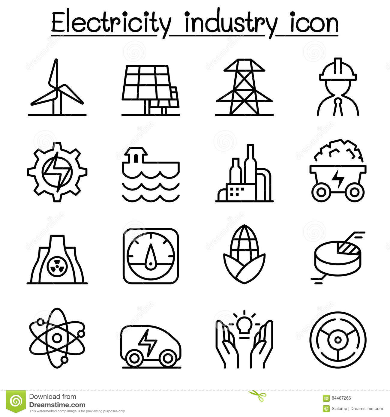 Electricity Industry Technology Power Power Line Stock