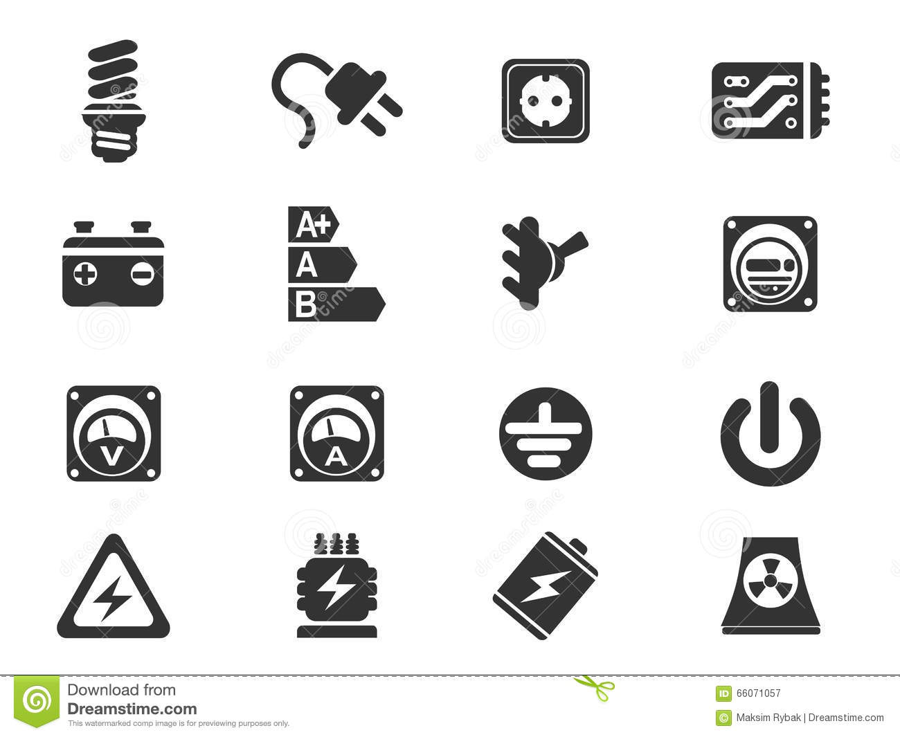 Electricity Simply Icons Stock Vector Illustration Of