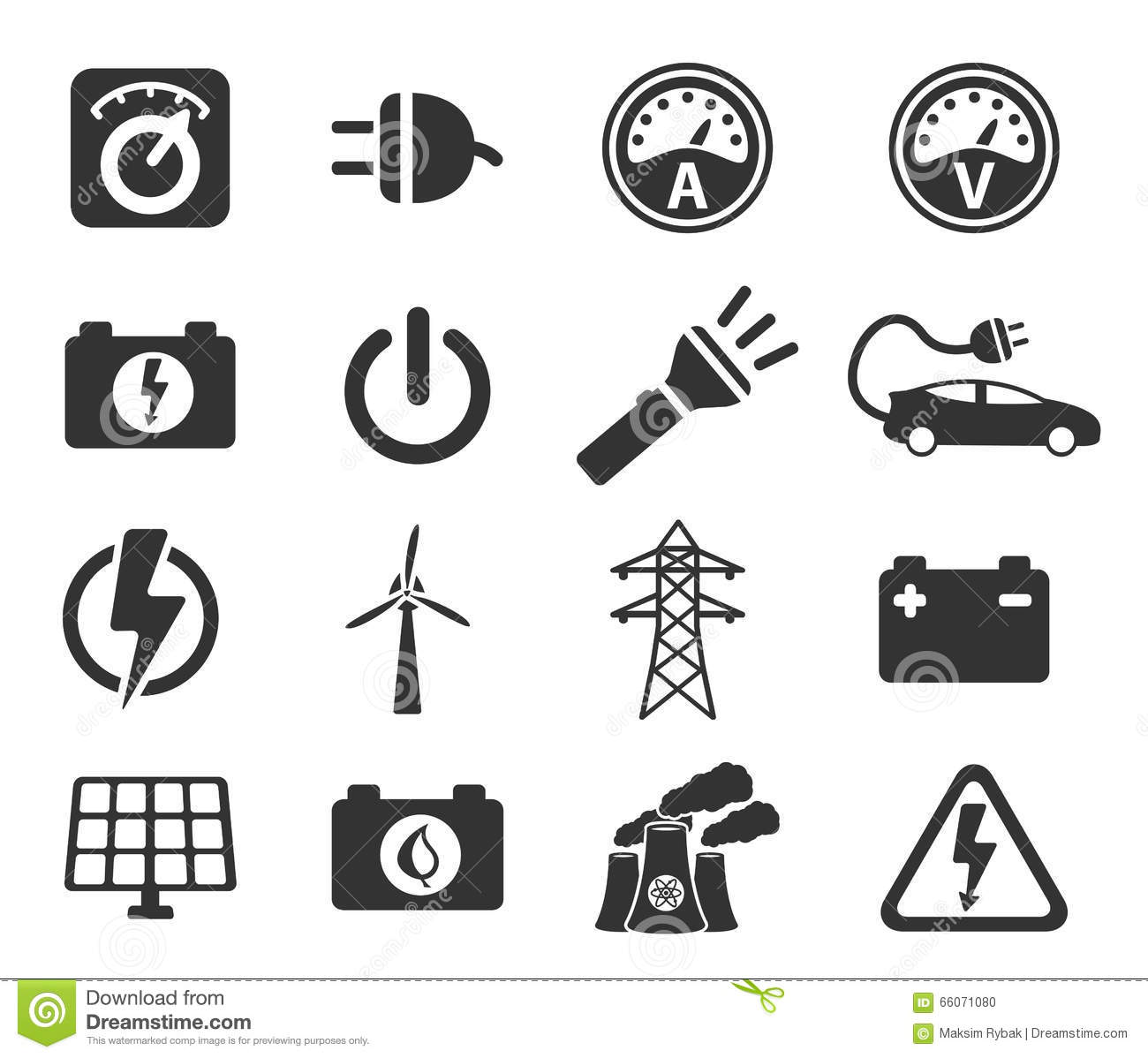 Electricity Simply Icons Stock Photo