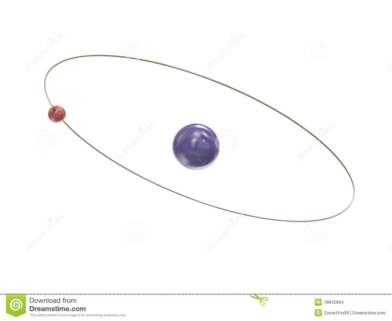 Electron And Path Around The Nucleus Stock Images