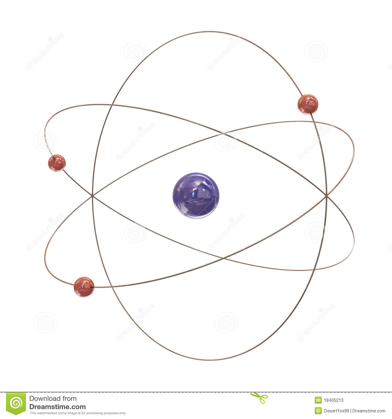 Electron Paths Around The Nucleus Stock Photos
