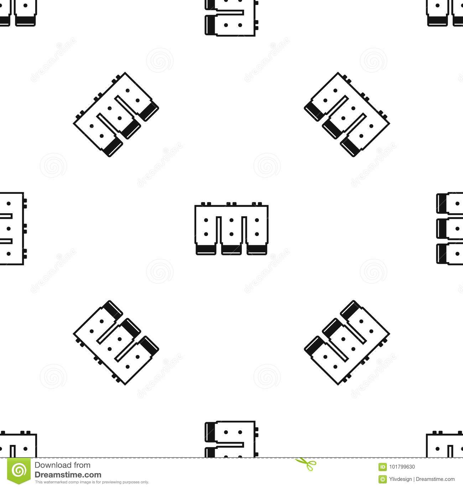 Electronic Circuit Board Pattern Seamless Black Stock