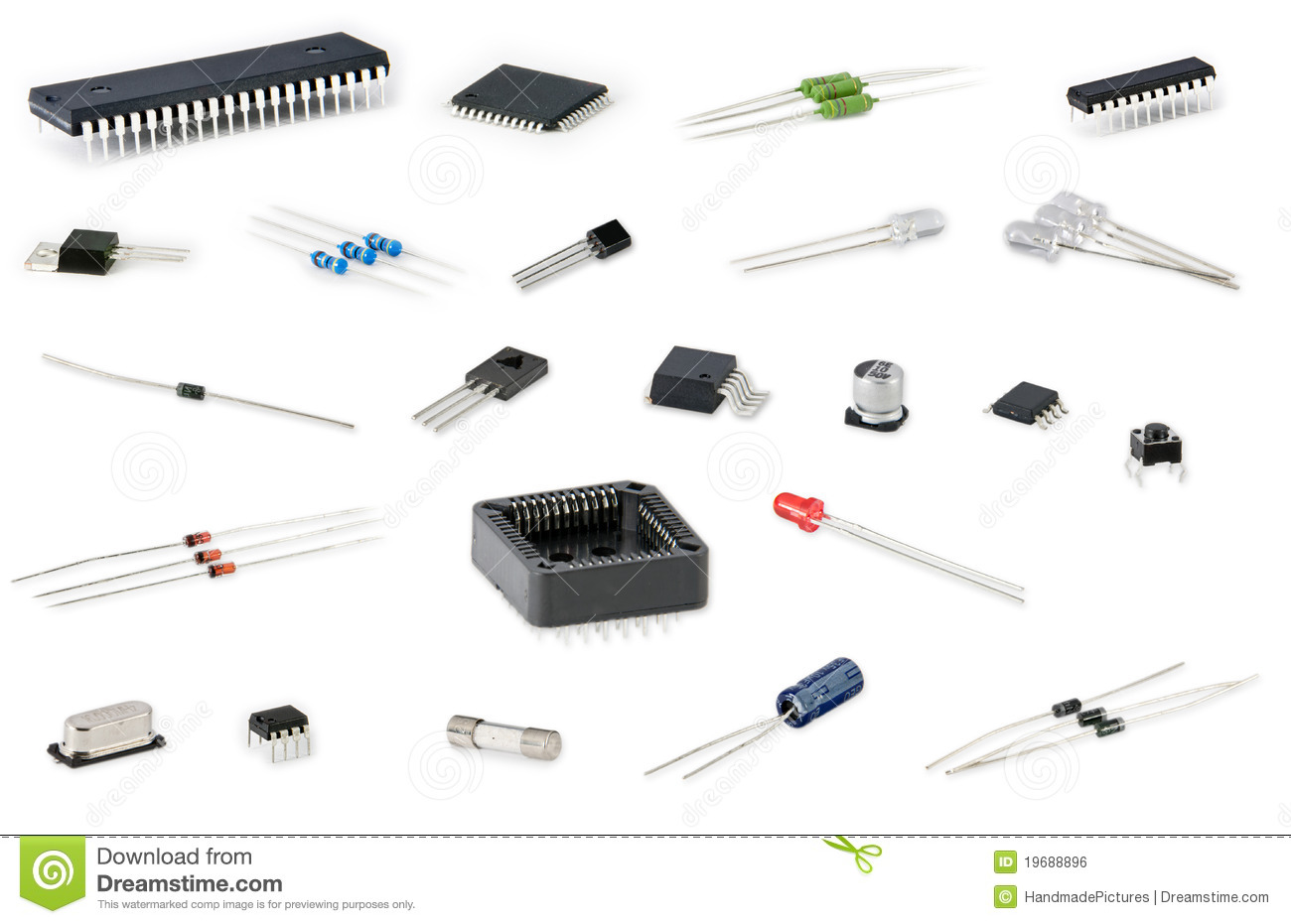 Electronic Components Royalty Free Stock Image
