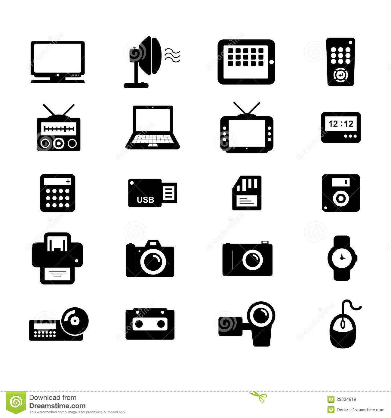 Electronic Icon Stock Vector Illustration Of Laptop