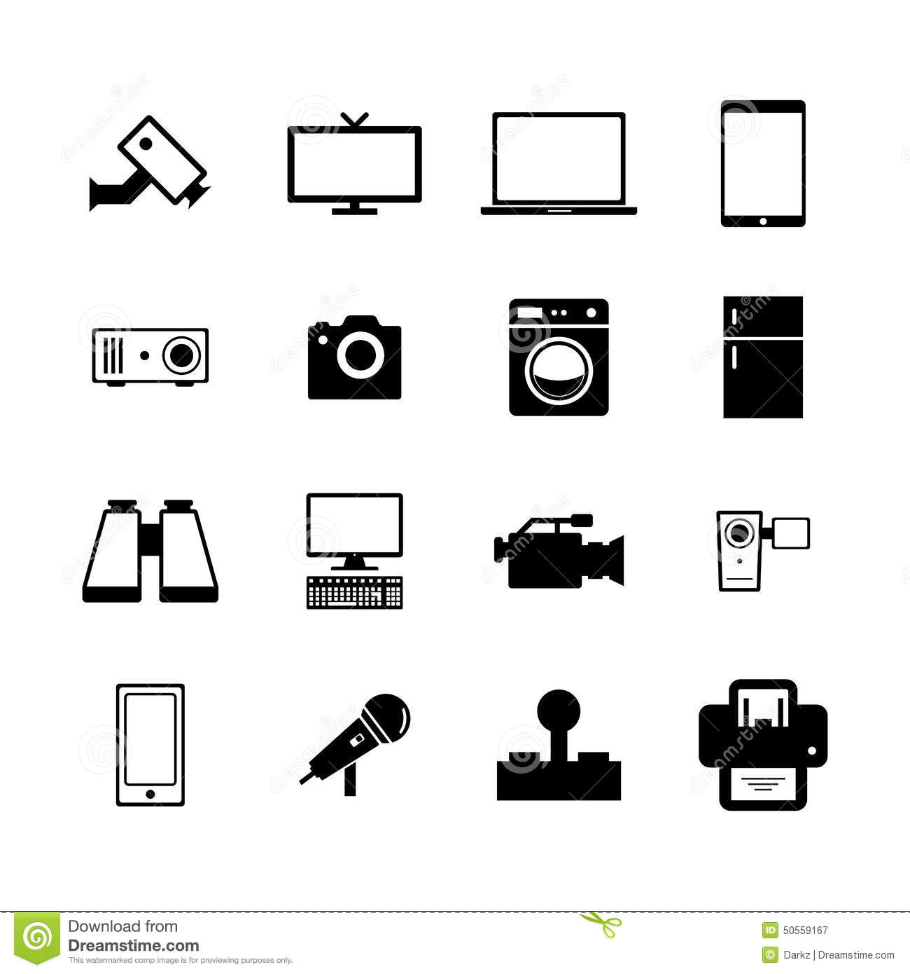 Electronic Icon Stock Image Image Of Binocular Camera