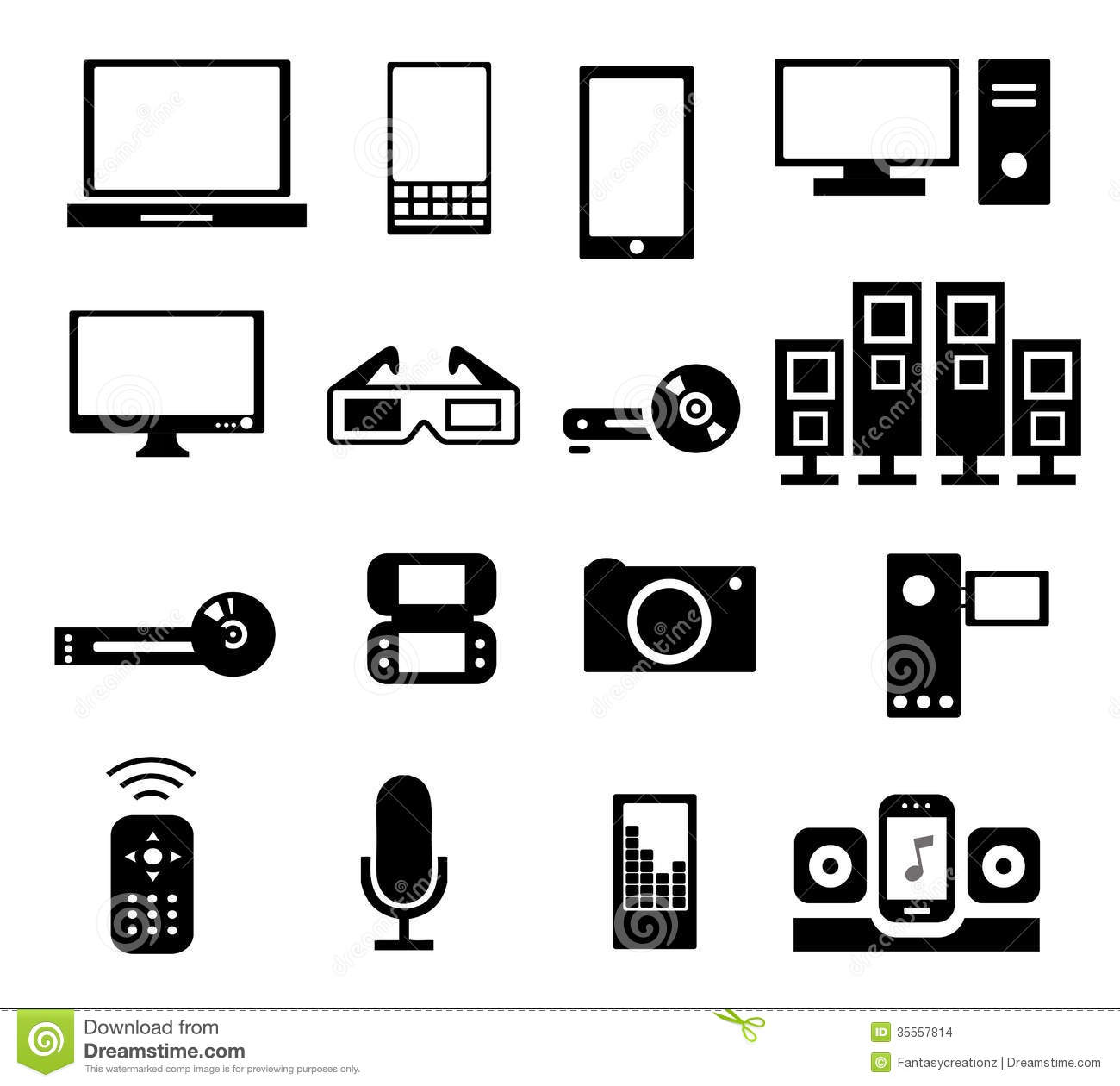 Electronic Icons Stock Vector Illustration Of Device