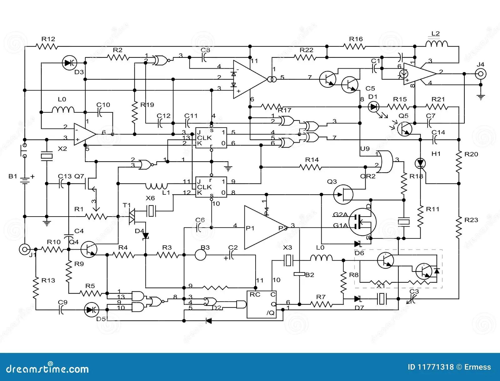 Electronic Project Stock Illustration Illustration Of