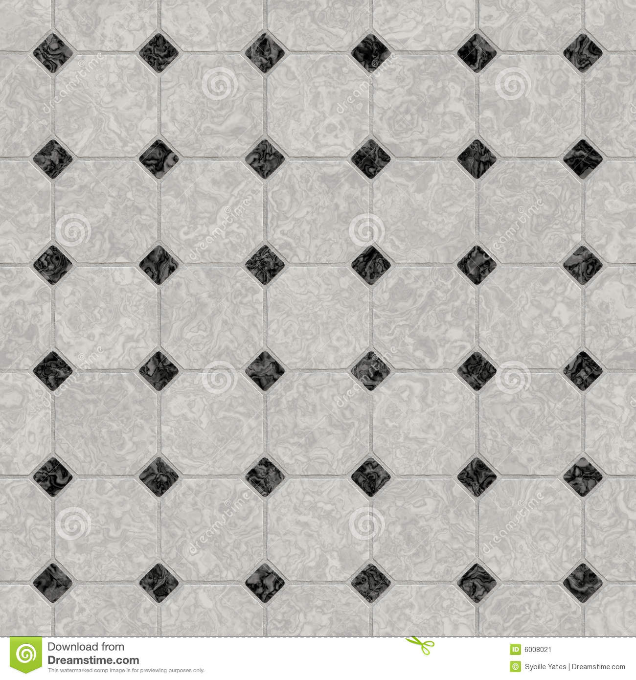 Elegant Black And White Marble Floor Stock Illustration