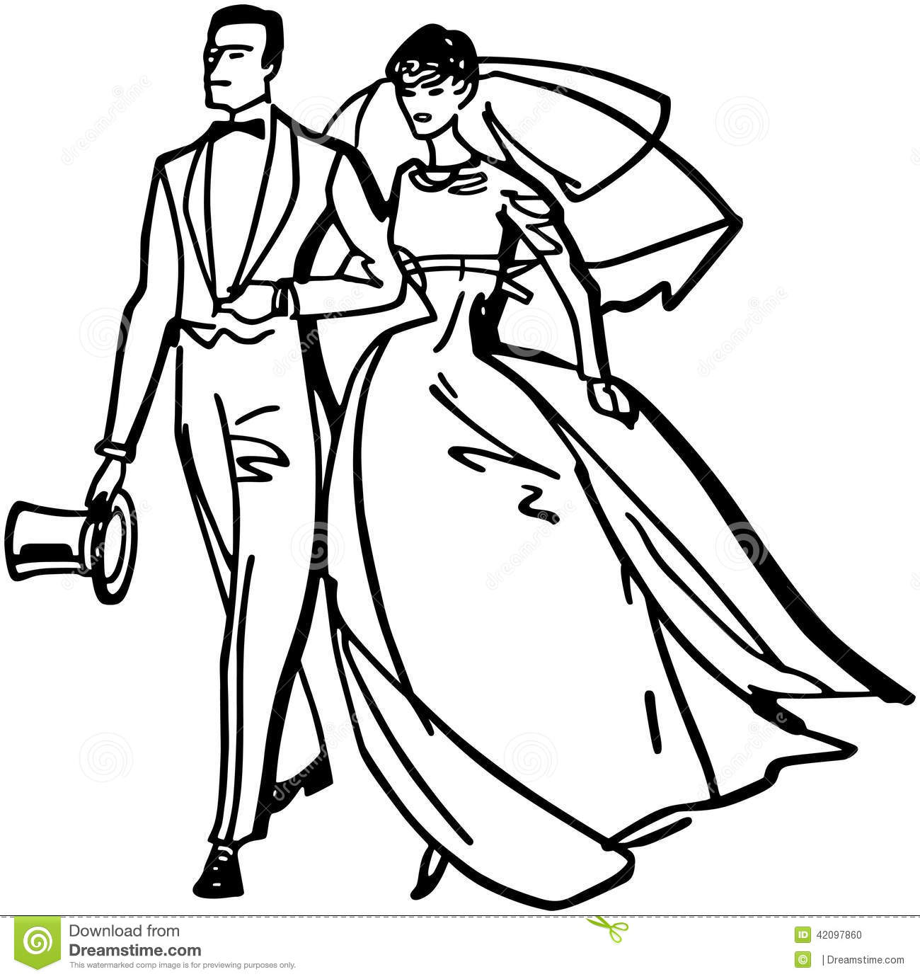 Elegant Bride And Groom Stock Vector
