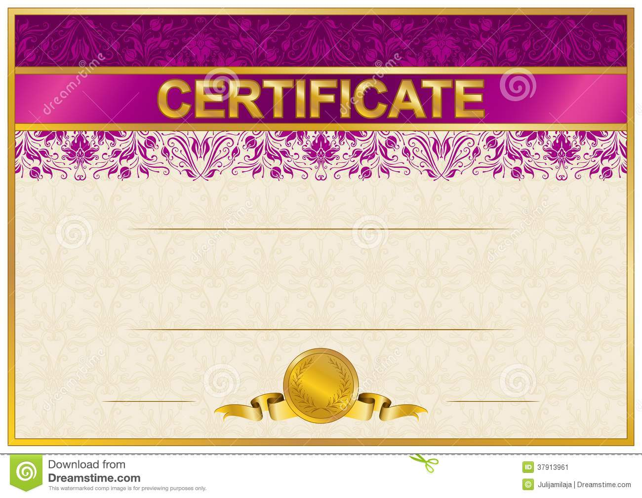 Graduation Purple Border 5 11 8 X