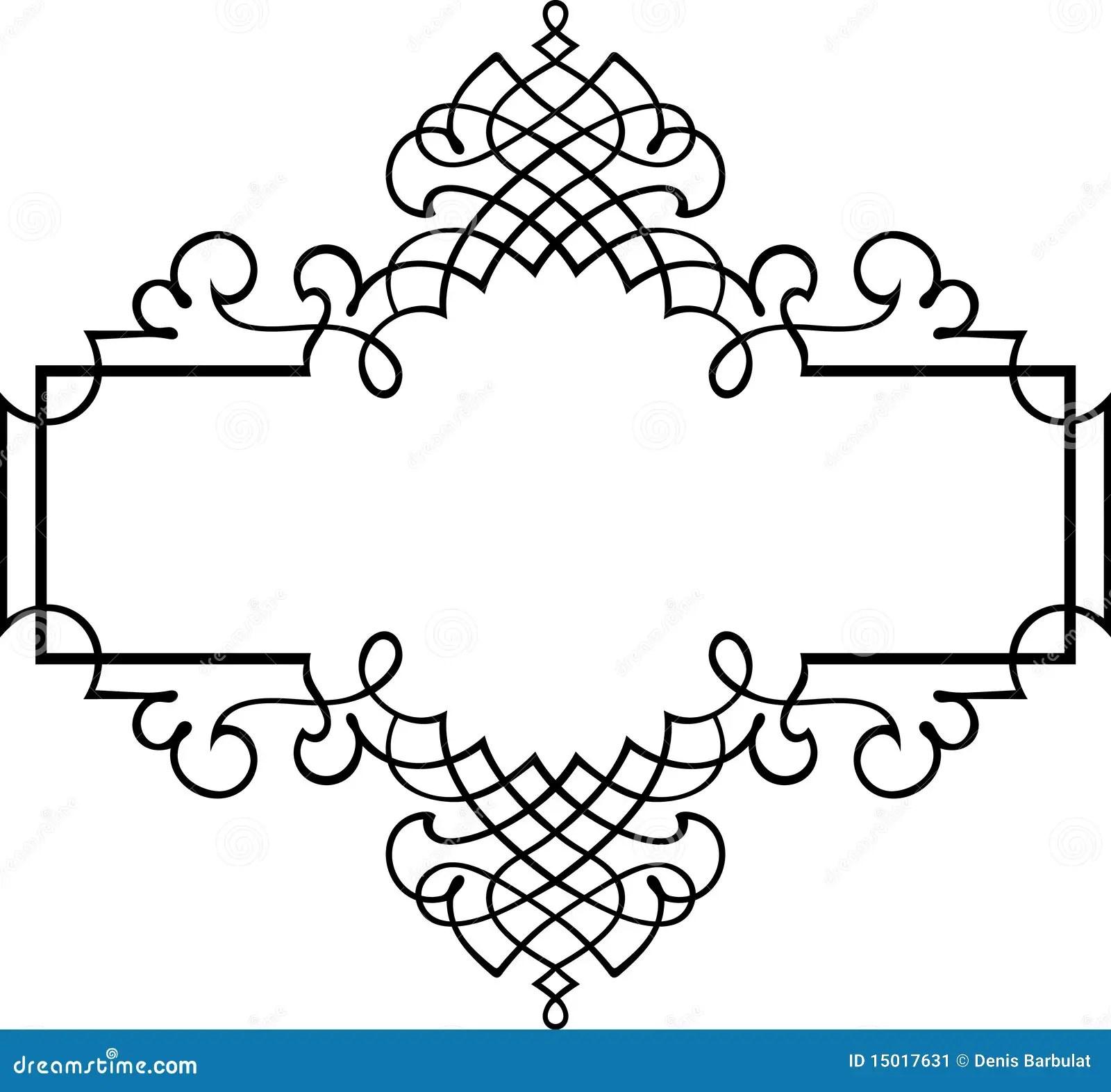 Elegant Vector Frame Stock Vector Illustration Of Narrow