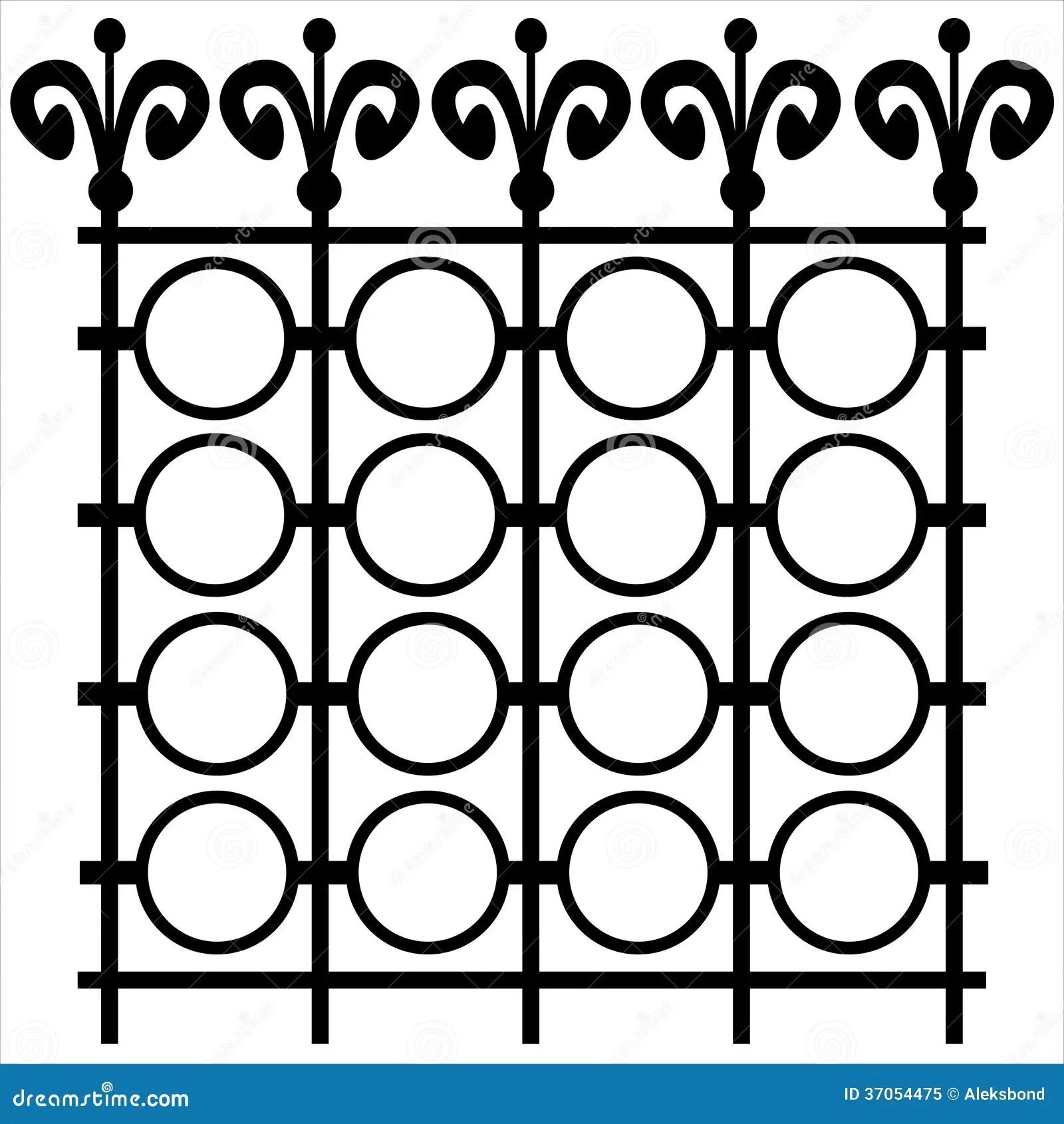 Element Fence Isolated On White Royalty Free Stock Photo