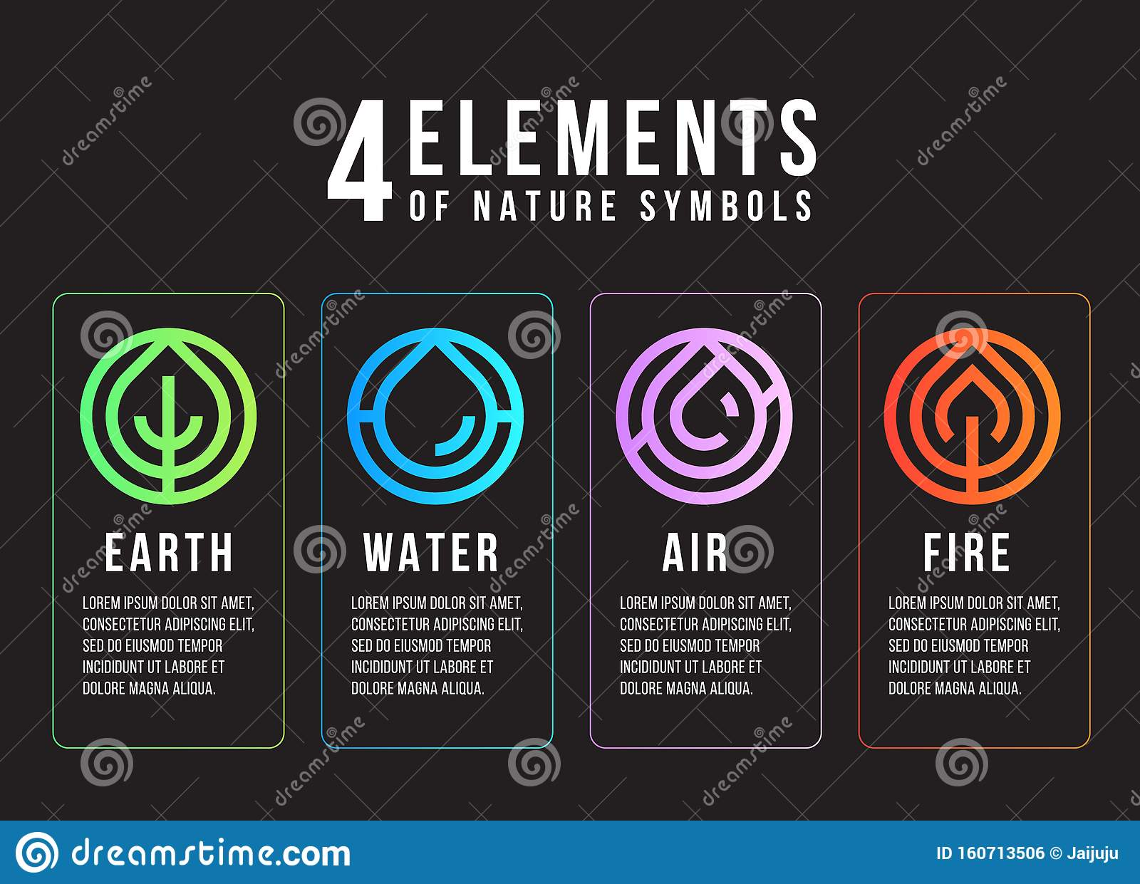 https www dreamstime com elements nature symbols abstract line border circle style earth fire air water vector design image160713506