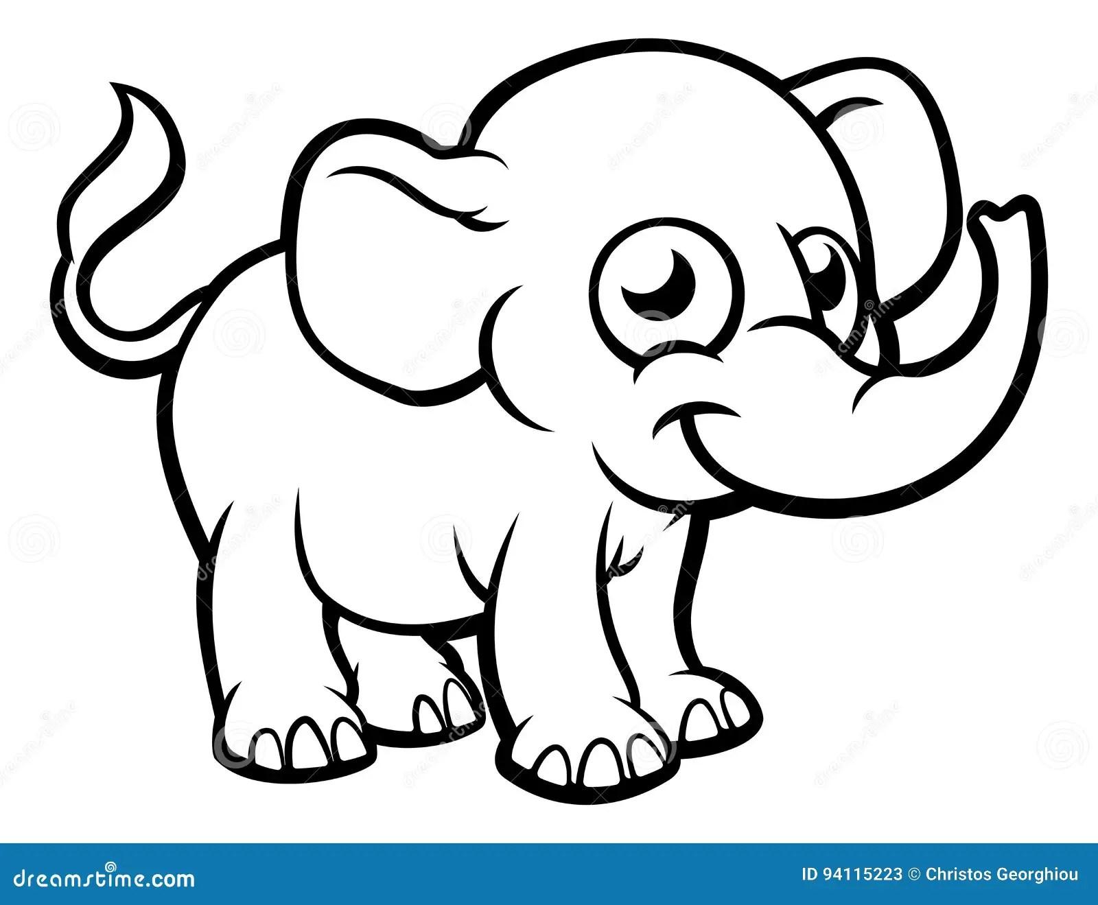 Elephant Cartoon Character Stock Vector Illustration Of