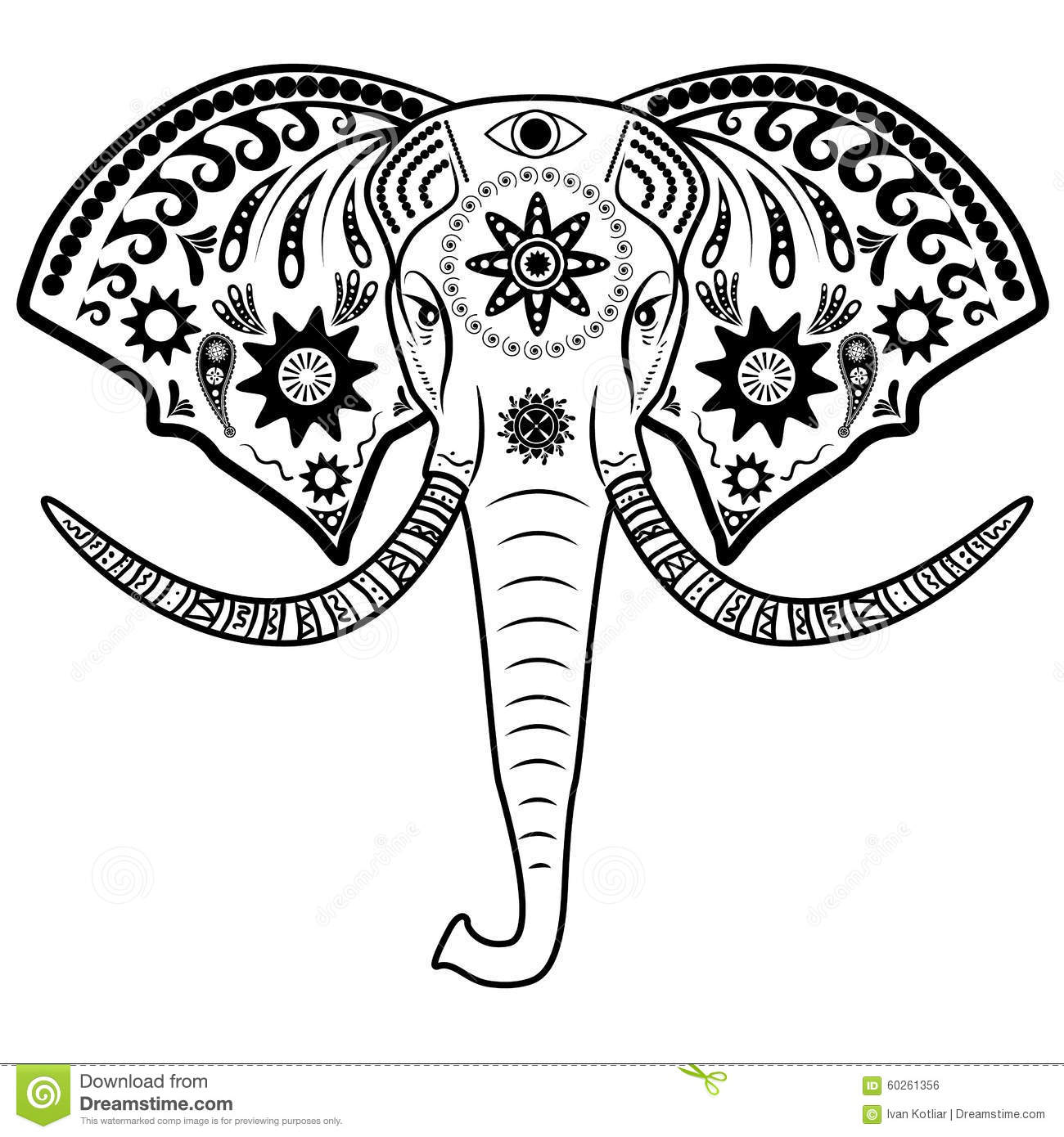 Elephant Head Stock Vector Image Of Icon Design Mammal