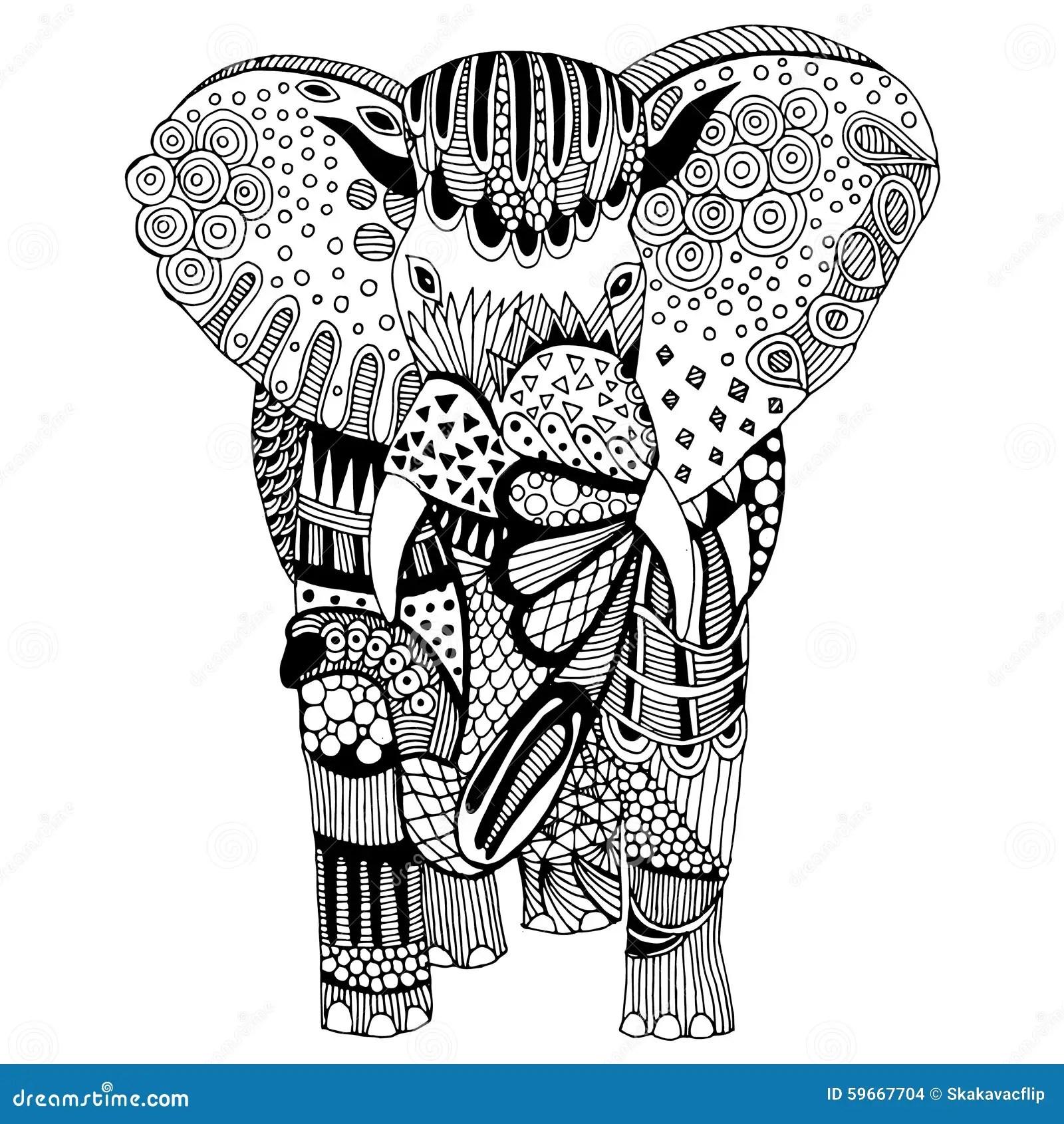 Elephant Illustration Stock Illustration