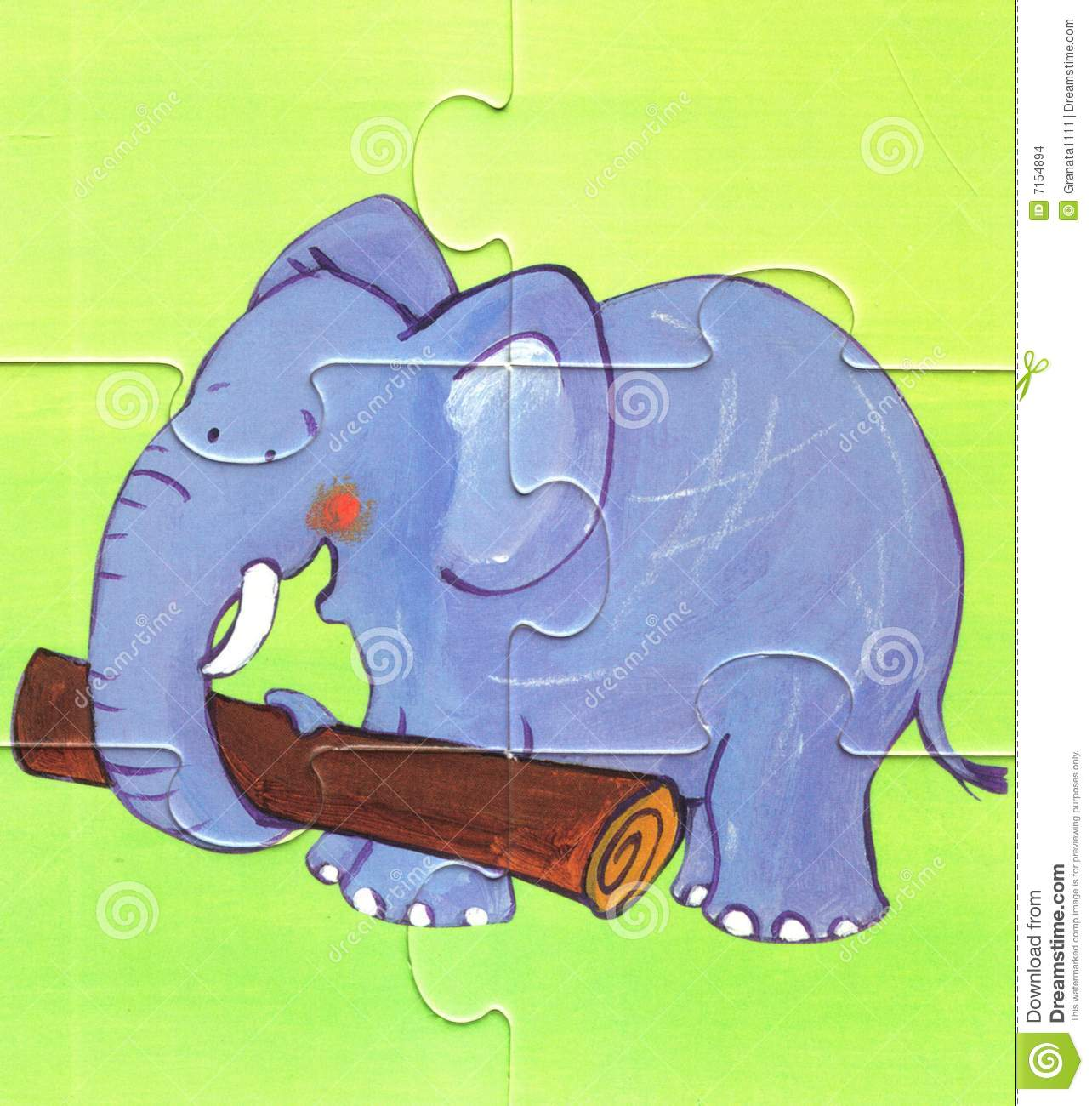 Elephant To Work Stock Images