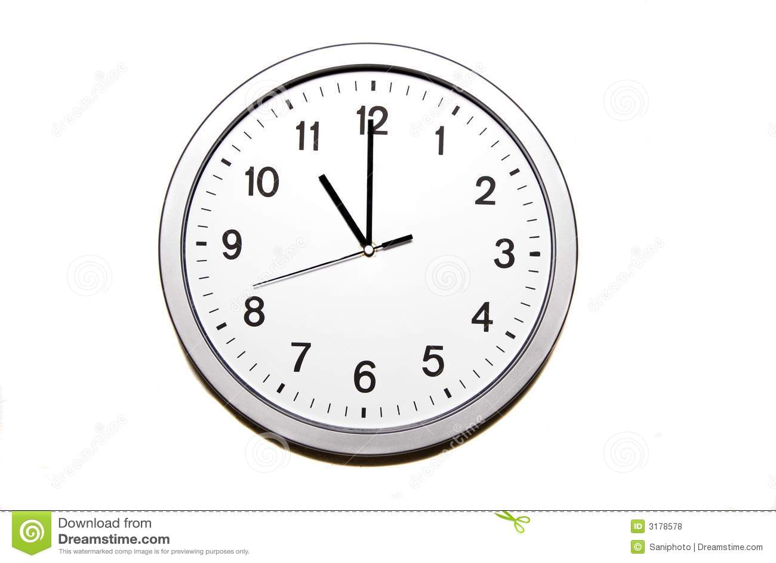 Elf Uhr Lizenzfreie Stockfotos