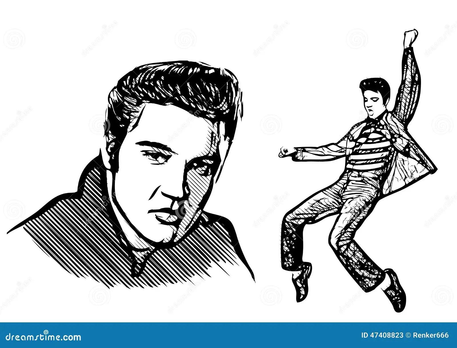 Elvis Presley Editorial Stock Photo Illustration Of