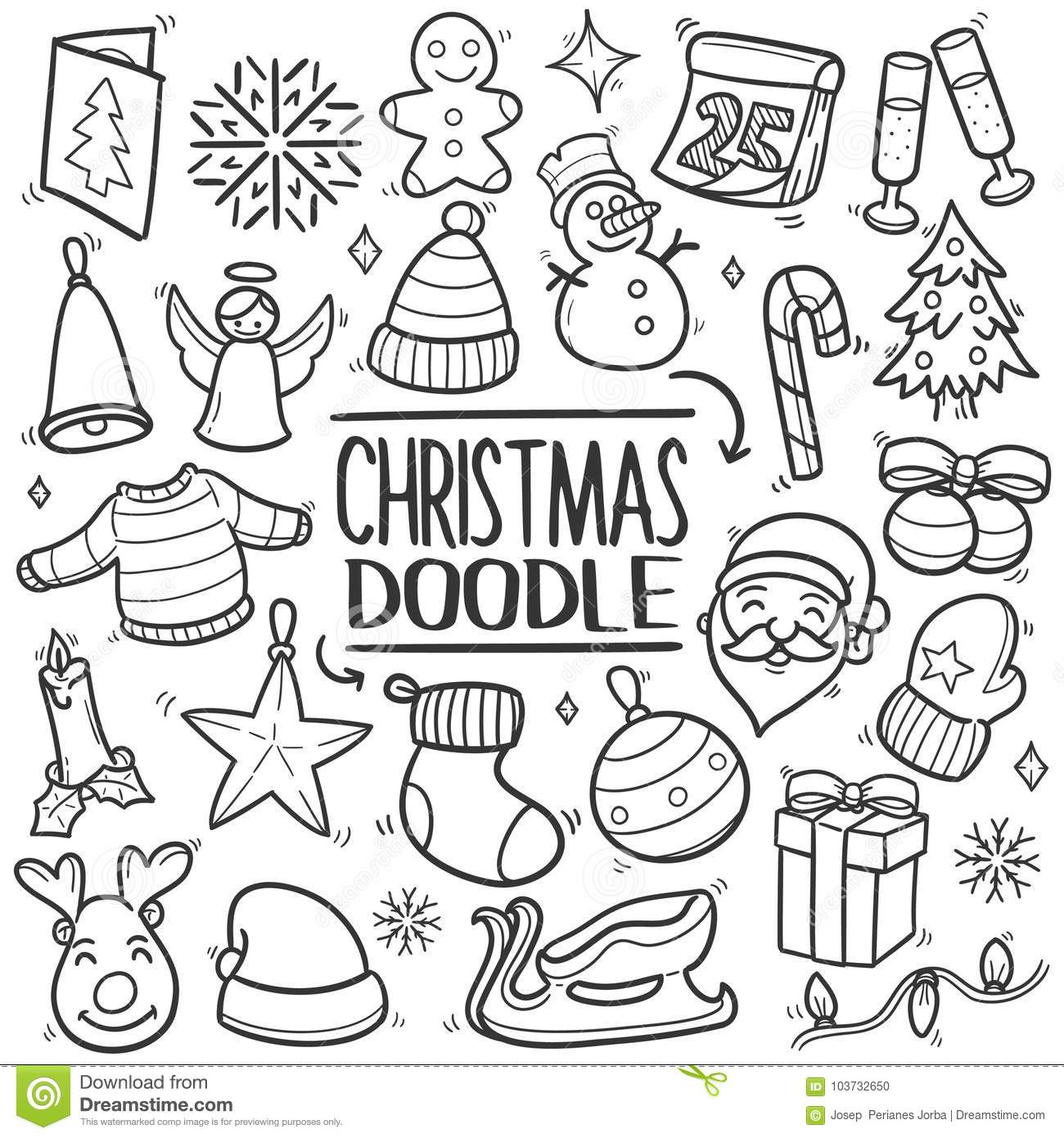 Handdrawn Garland Clip Art Doodles And Illustration In