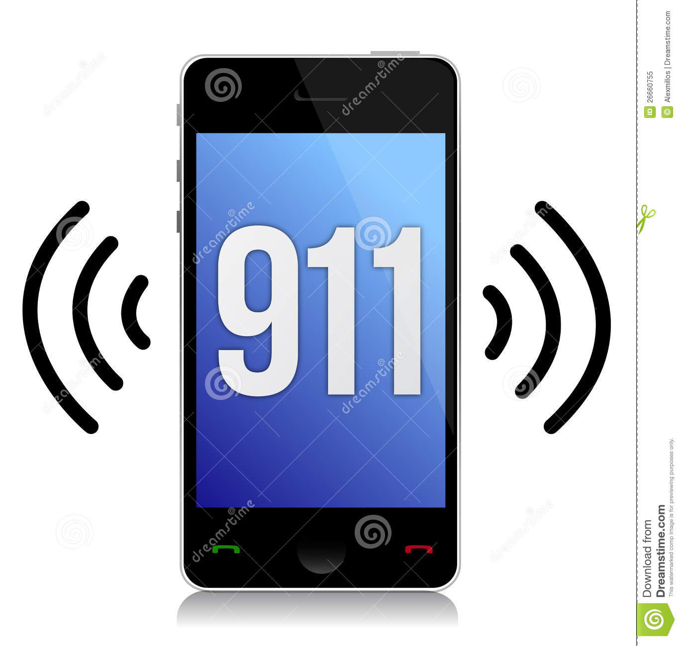 Emergency Number 911 Call Royalty Free Stock Photo