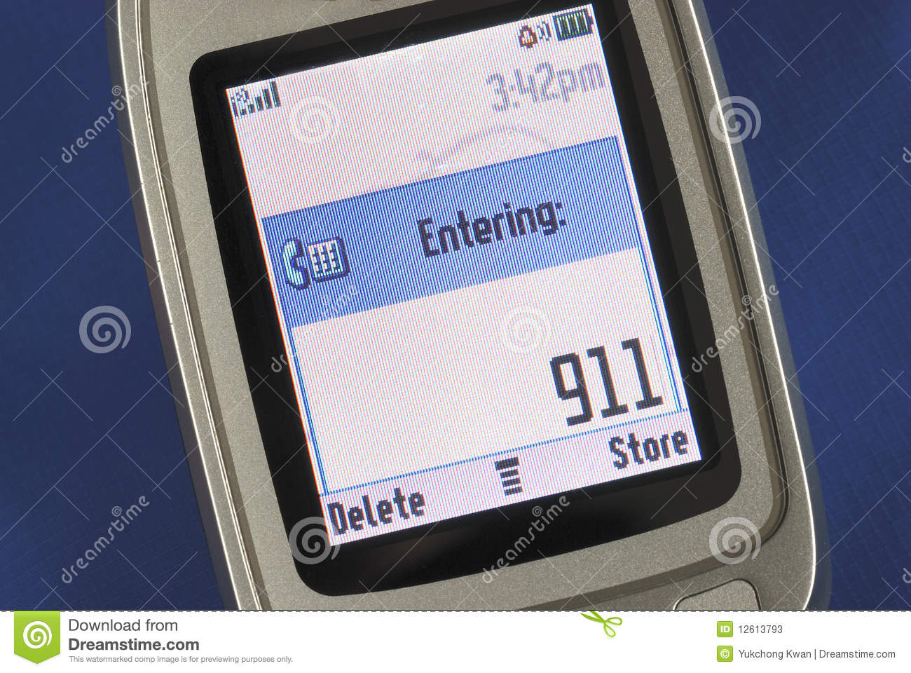Emergency Number 911 Displayed On A Cell Phone Stock Image