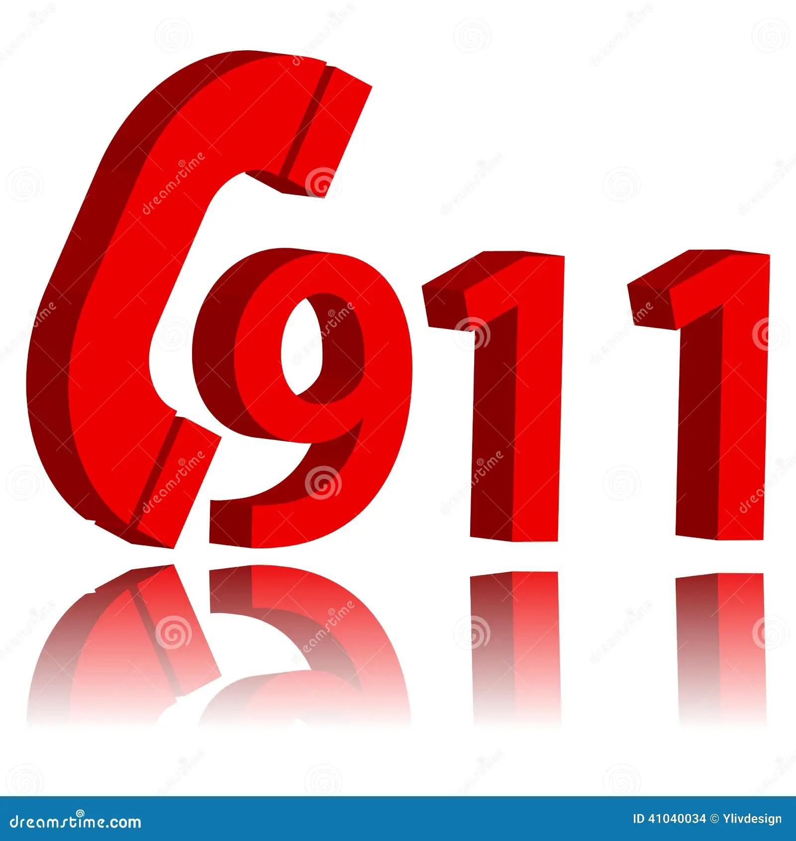 911 Emergency Symbol Stock Vector Illustration Of Call