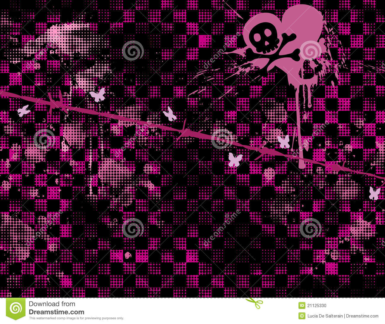 Emo Background Stock Photo Image 21125330