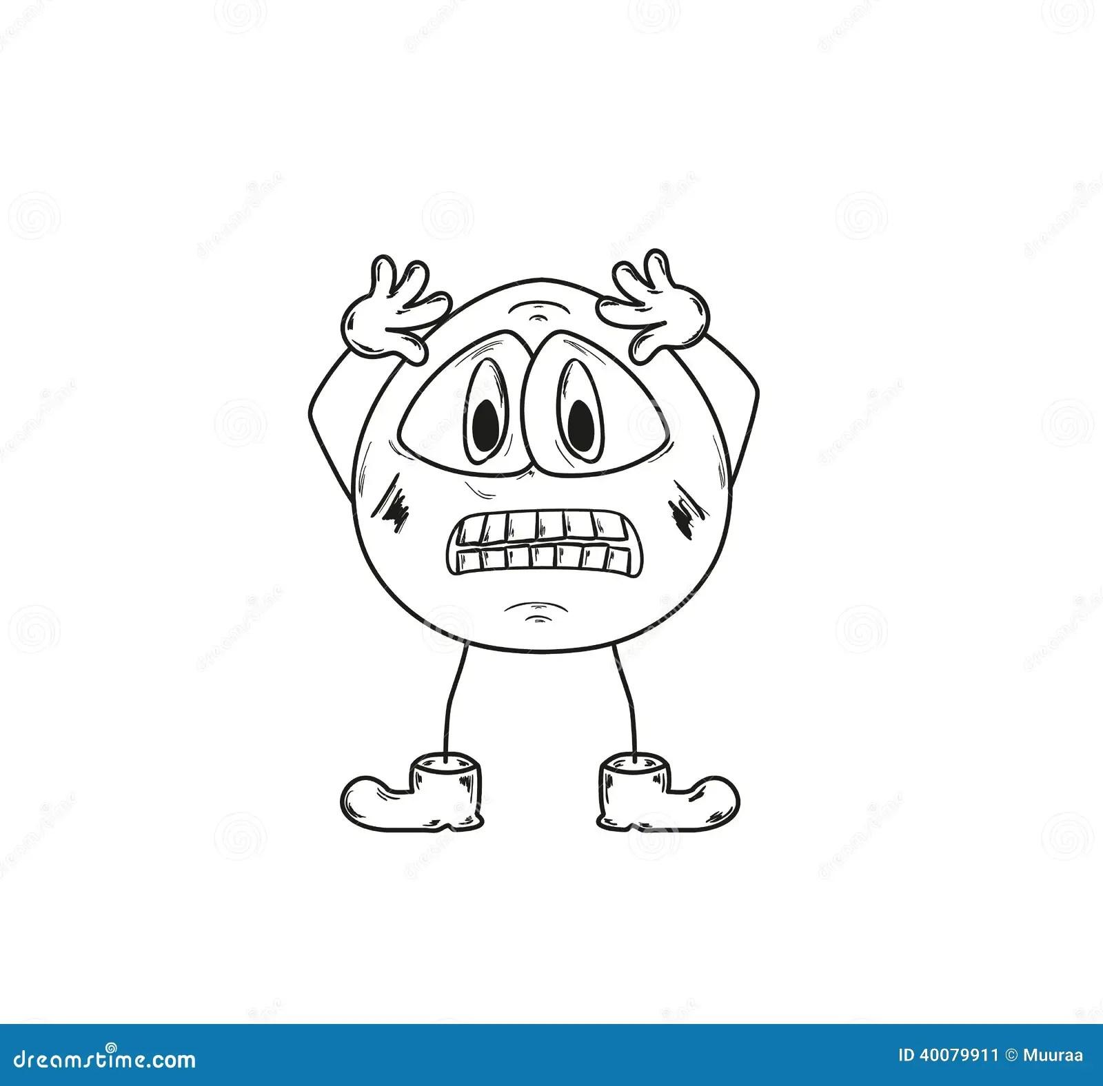 Panic Emoticon Cartoon Vector
