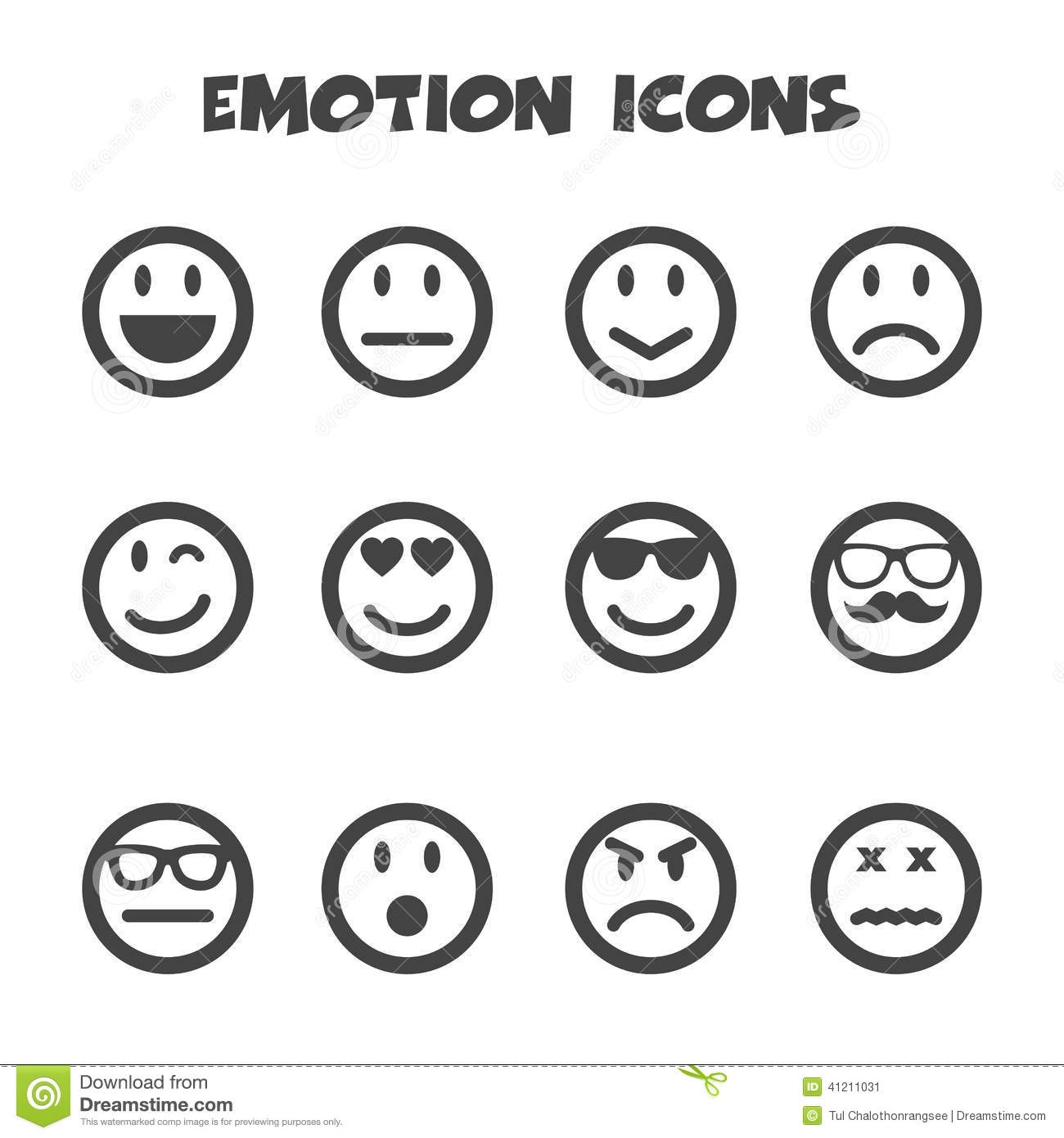 Emotion Icons Stock Vector Illustration Of Fear Curious