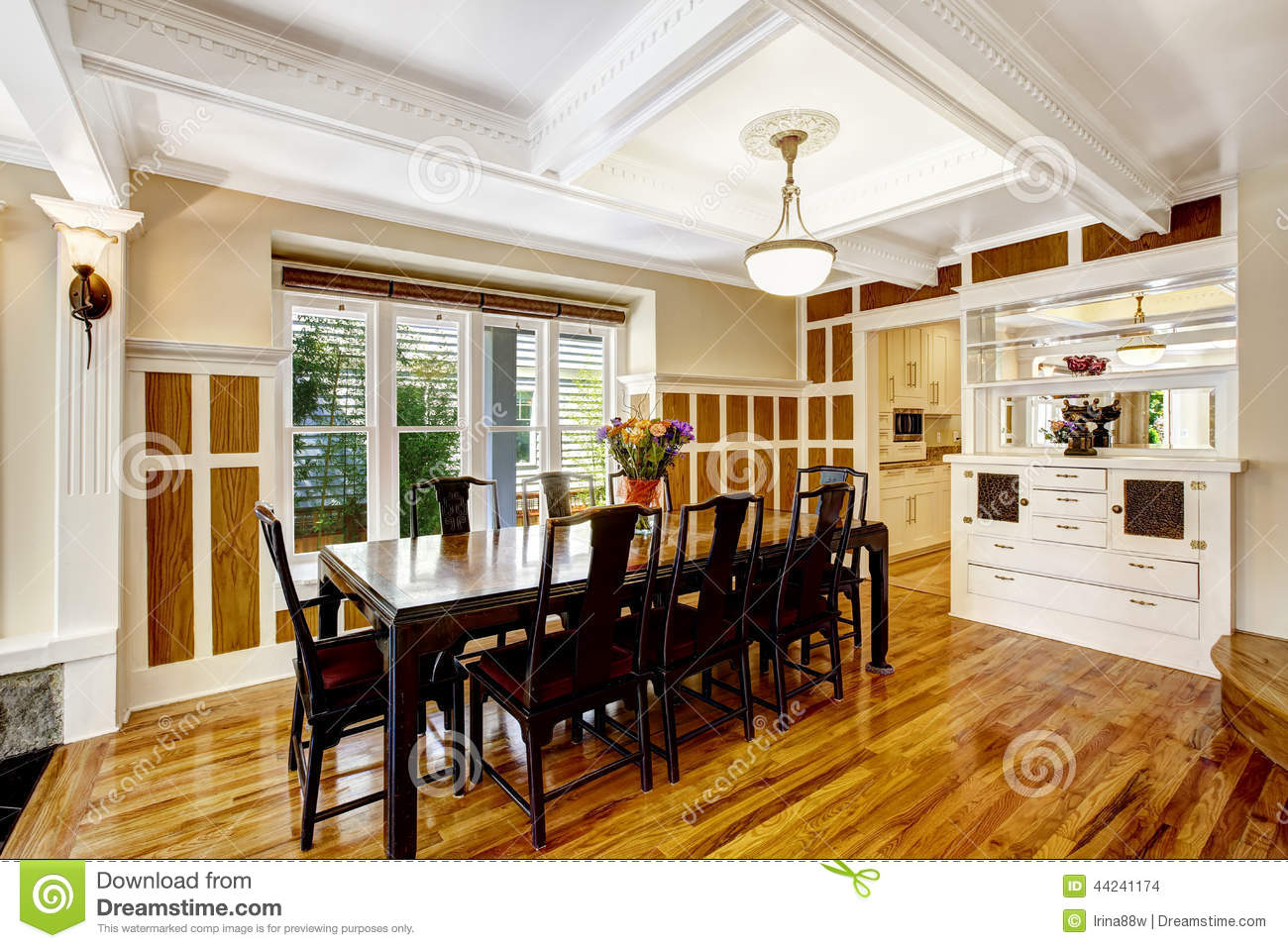 Empressive Dining Room Interior Luxury House With Wood